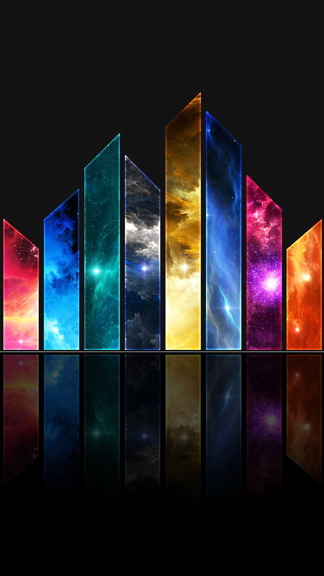 Abstract Glass Shards Universe Space Colors Android Wallpaper …