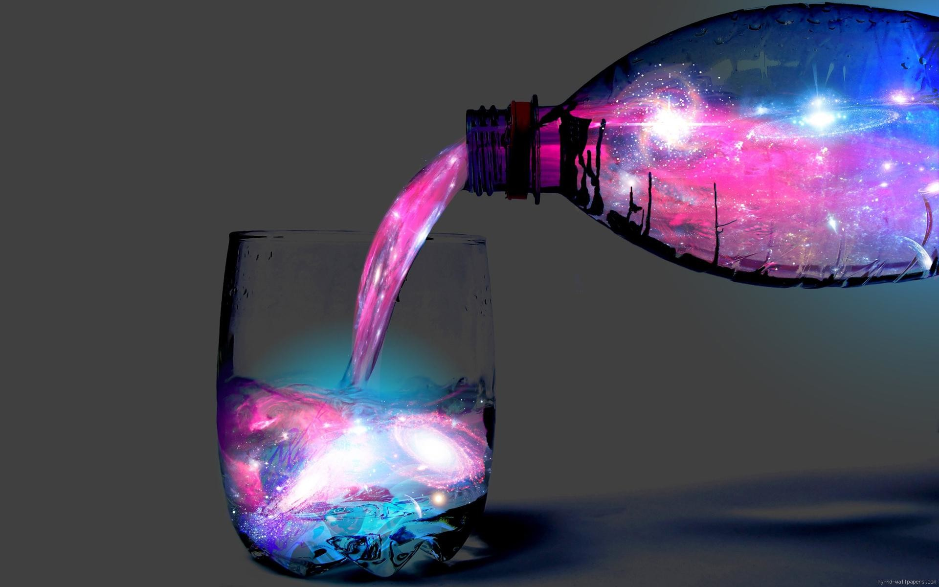 Space fluo color drink …