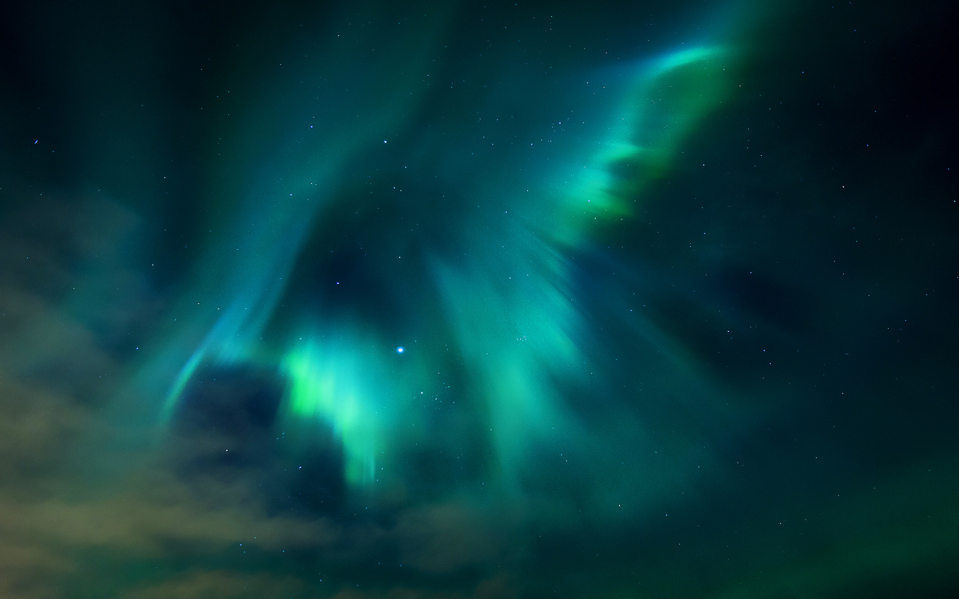 Colorful Aurora Borealis From Space
