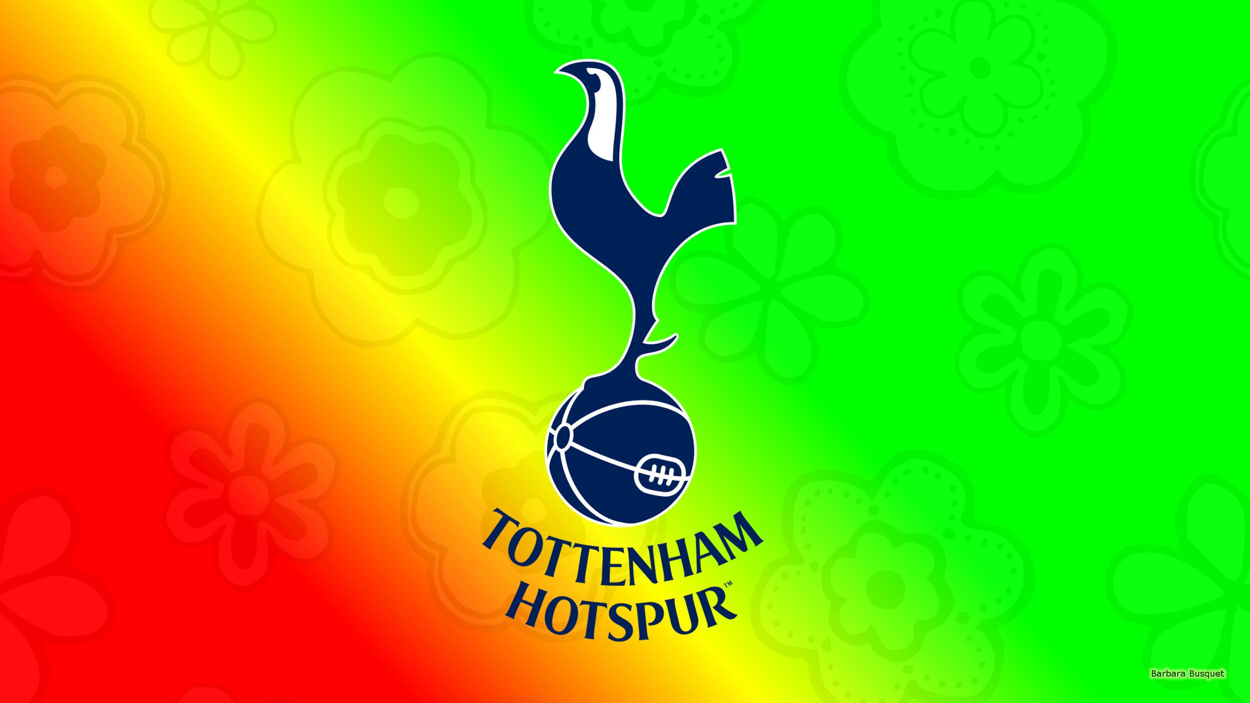 Green red yellow Tottenham Hotspur football wallpaper