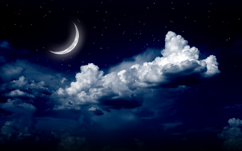 moonlight moon night nature landscape clouds stars sky g wallpaper