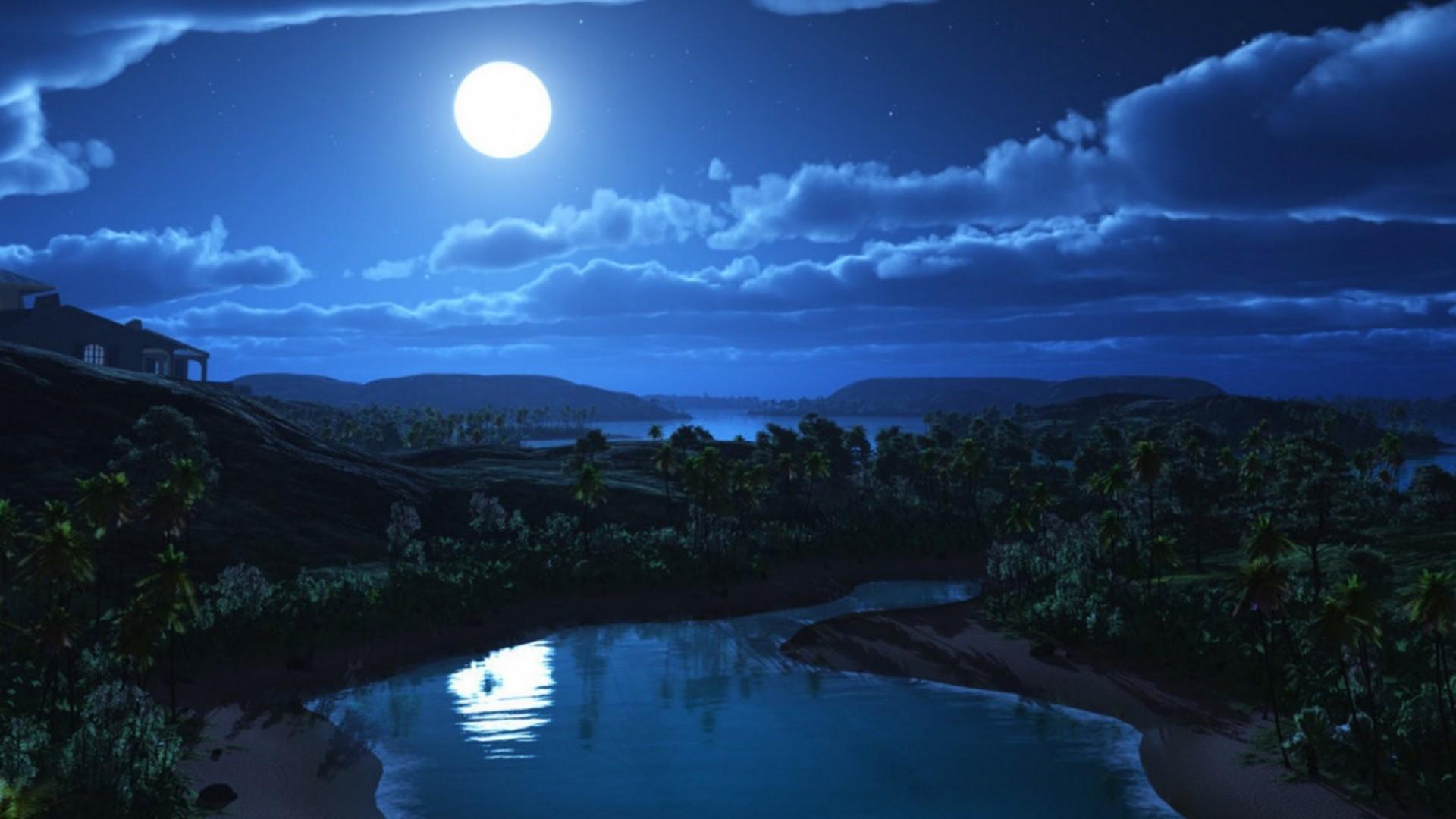 Bright Night Sky desktop PC and Mac wallpaper