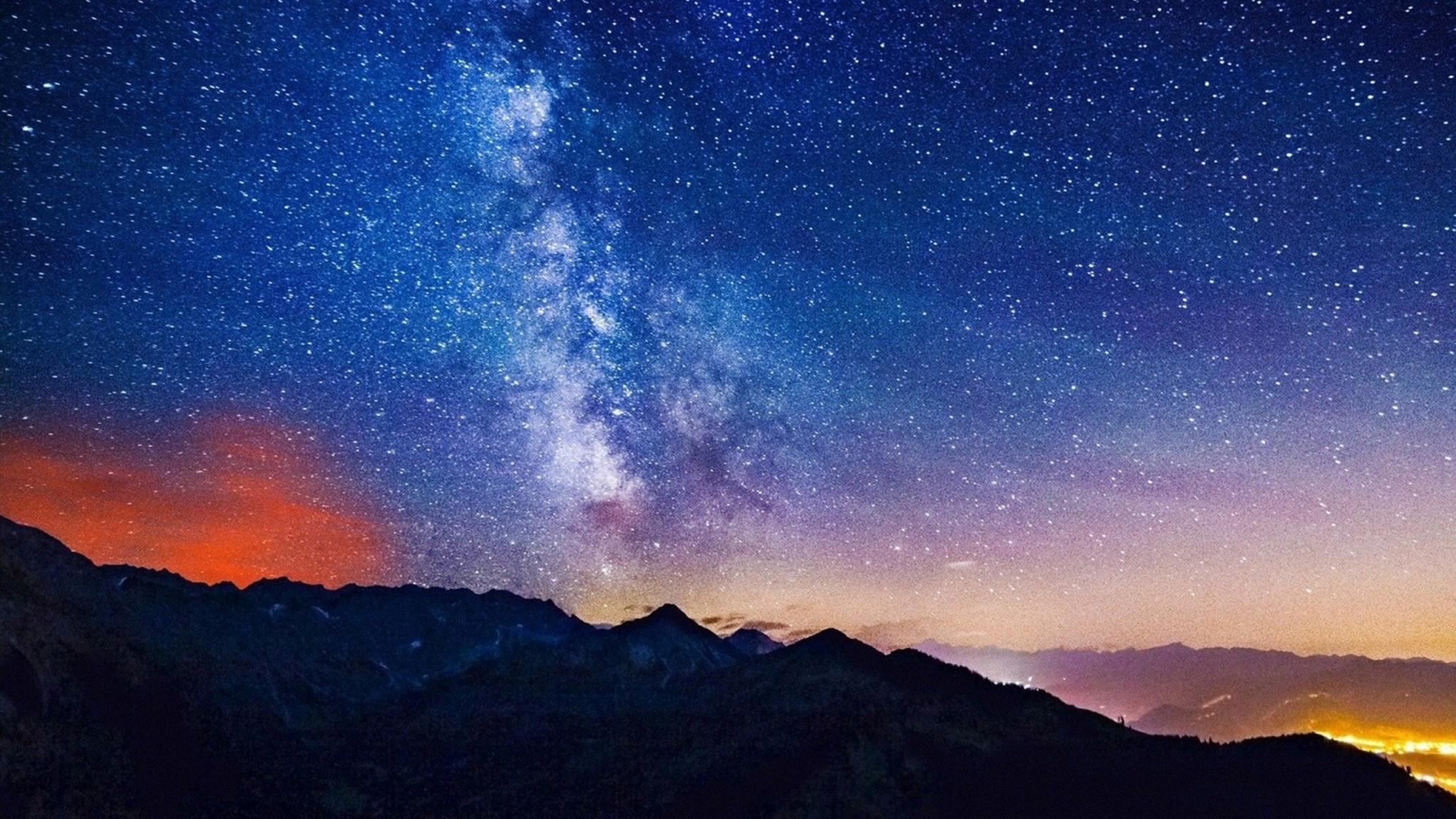 night sky beautiful wallpaper desktop
