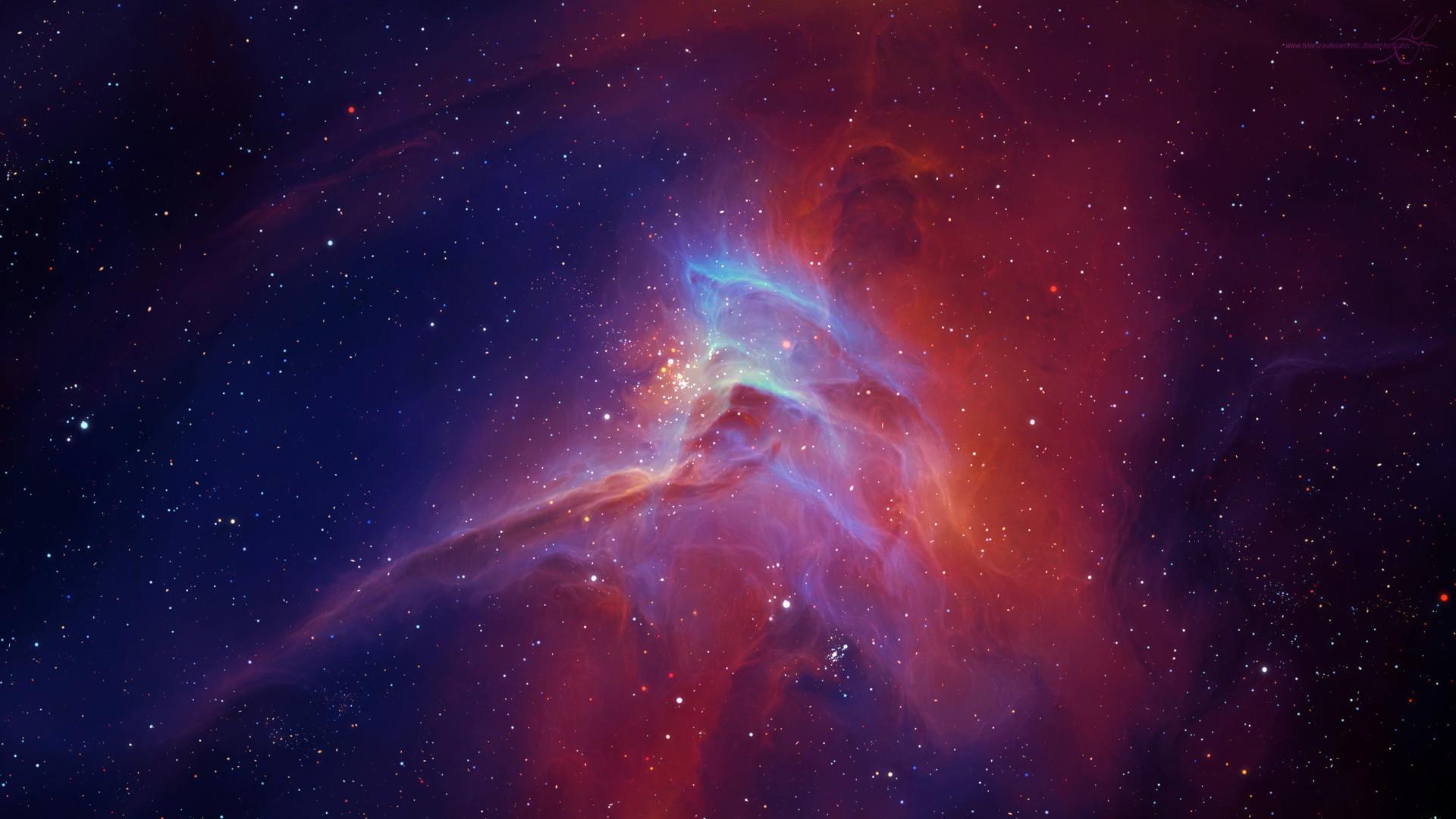 Preview wallpaper star, nebula, glow 1920×1080