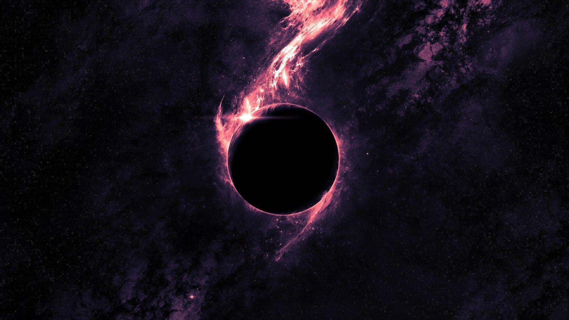 Black Planet Purple Nebula HD Wallpaper