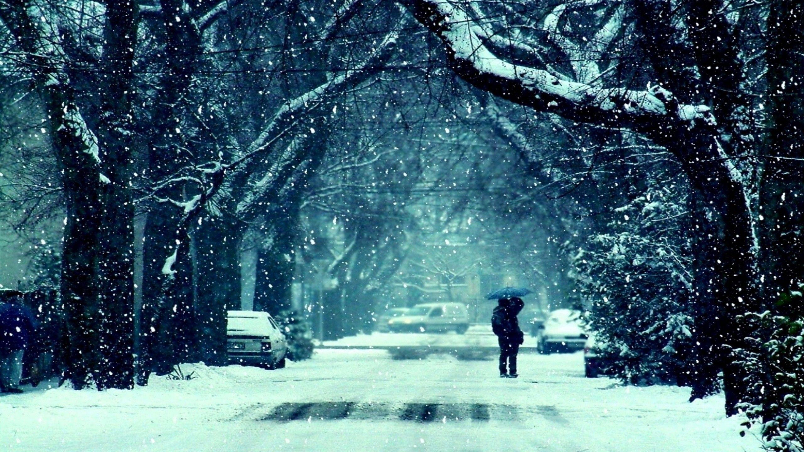 Gallery for – snow winter night wallpaper