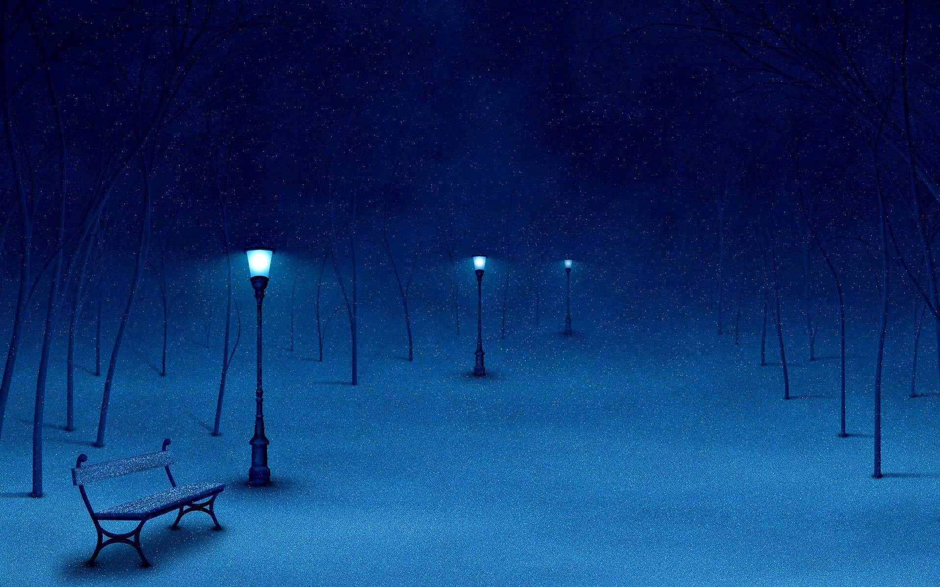 Winter Night HD Wallpaper | Wallpapers | Pinterest | Winter night and Hd  wallpaper