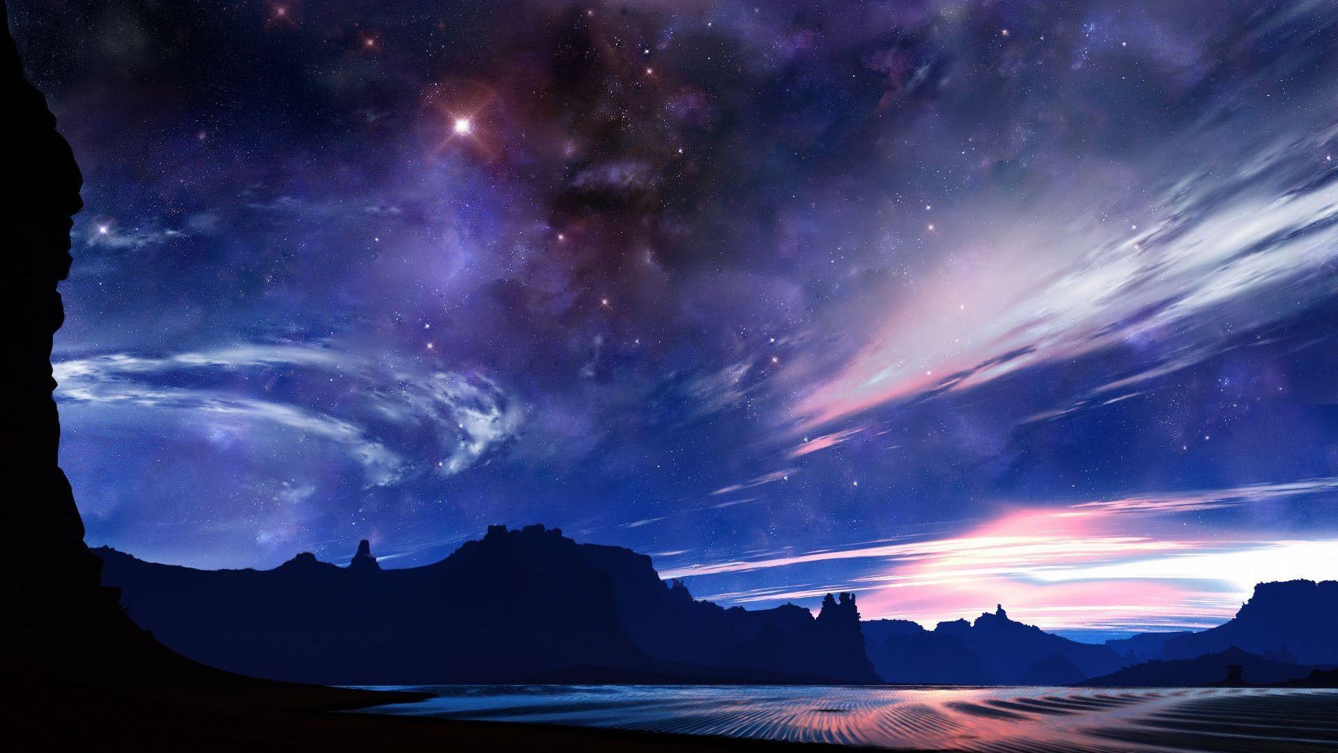 Gallery for – desert night sky wallpaper