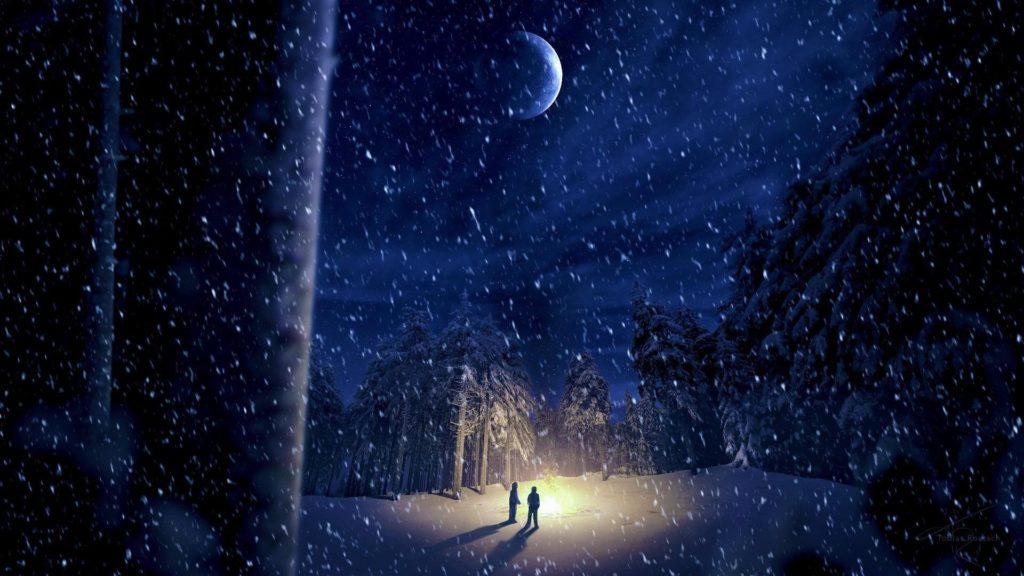 Winter-Night-In-Moonlight-Wallpaper-for-PC