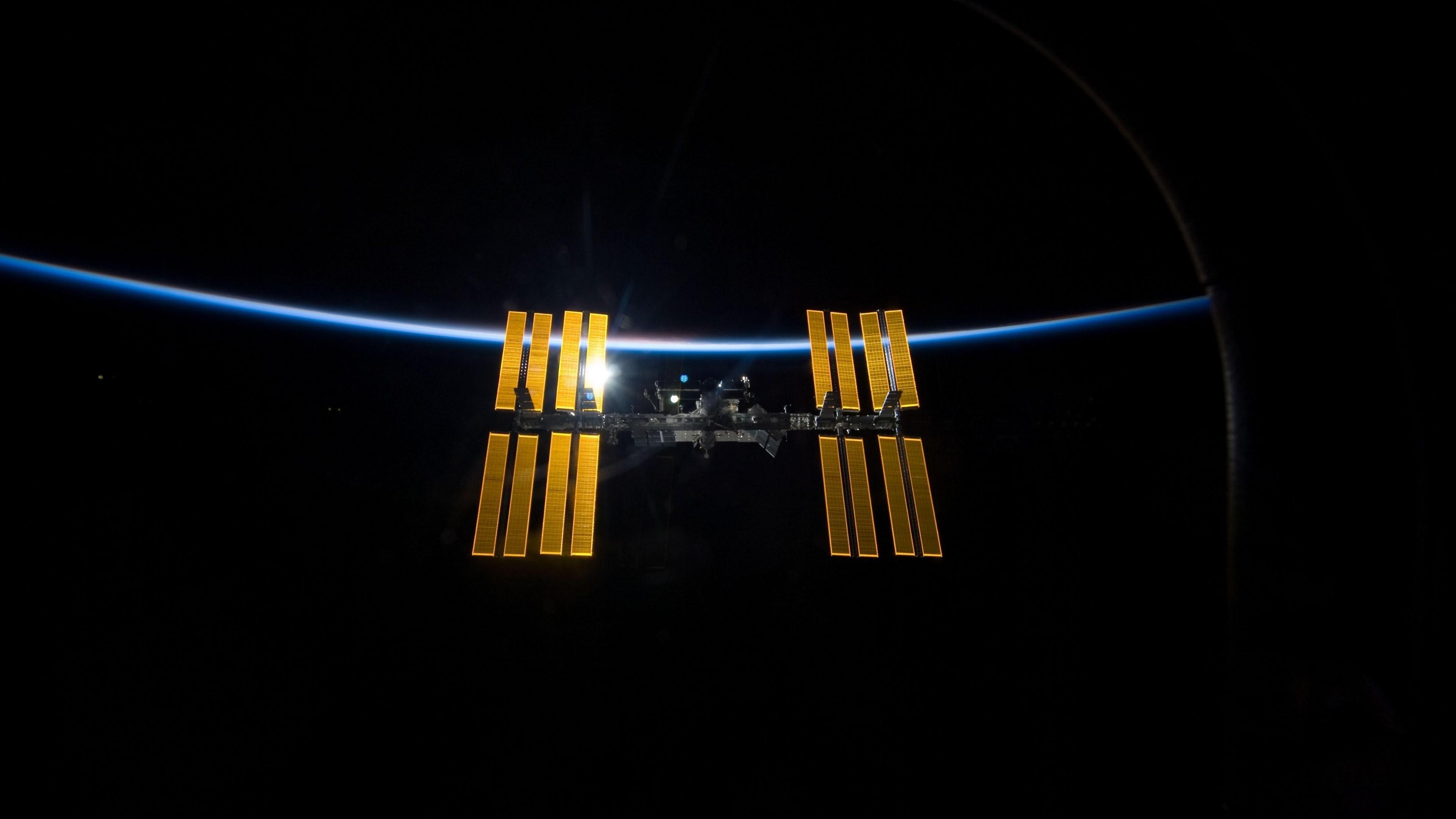 Wallpaper space, station iss, world, laboratory, light