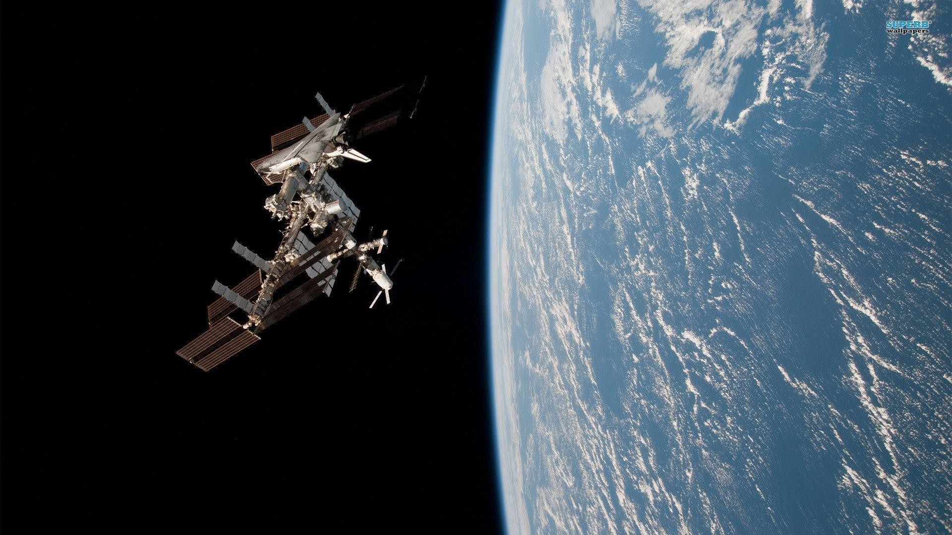 international space station wallpaper