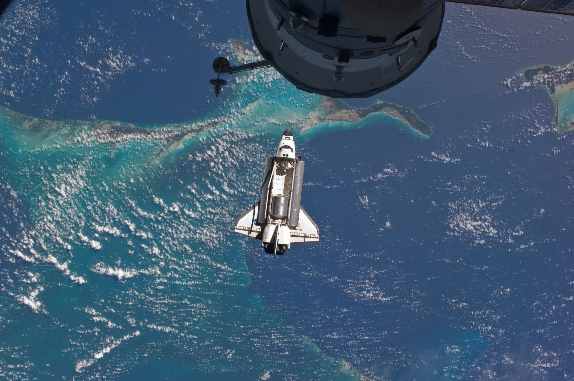 space shuttle atlantis last flight nasa iss international space station  atlantis space