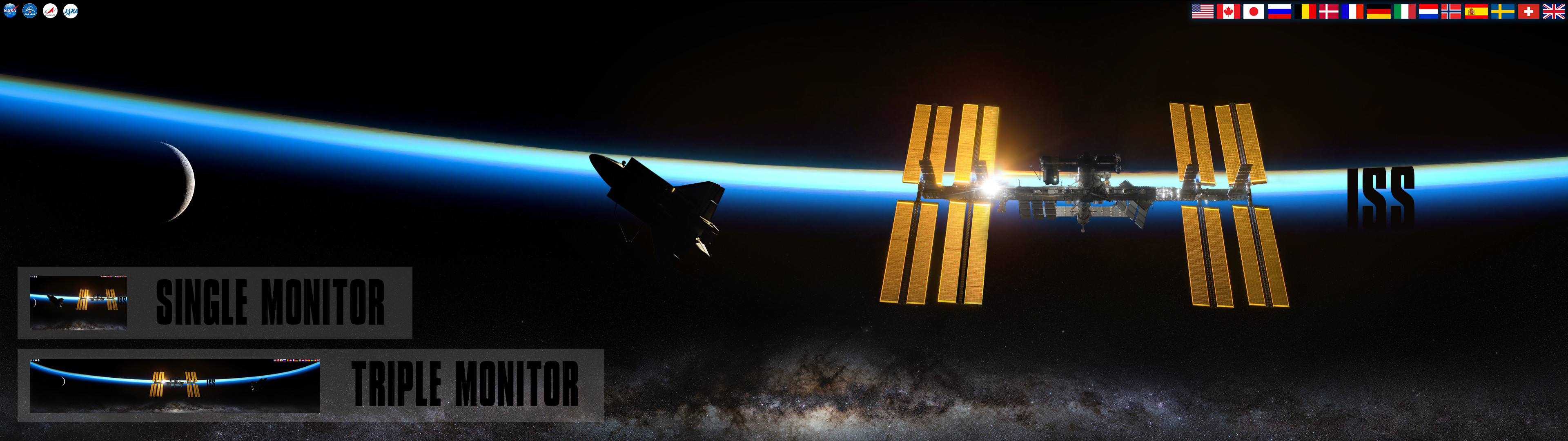 … NASA ISS – International Space Station Wallpaper by foxgguy2001