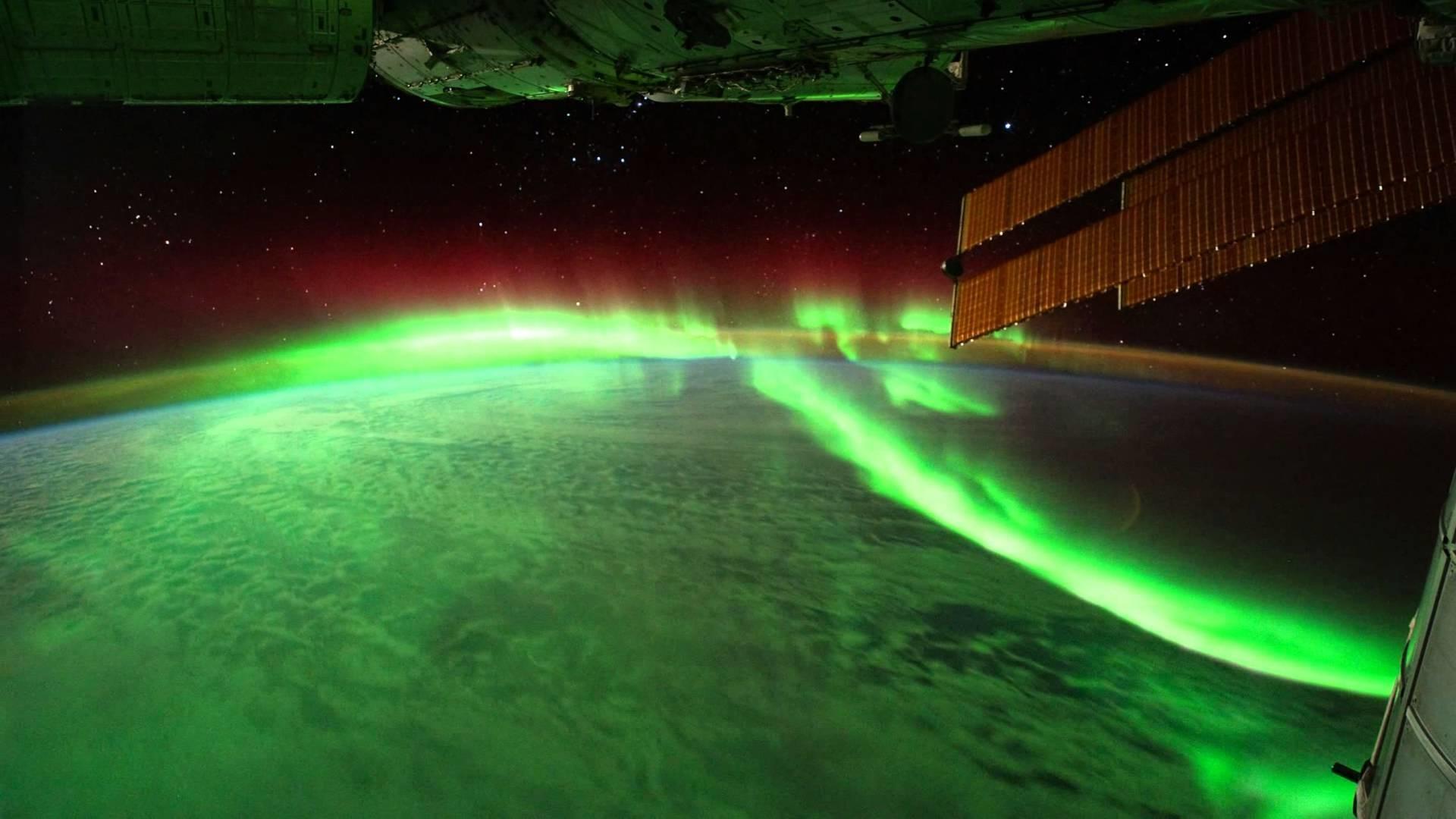 Aurora Borealis From Space Gif