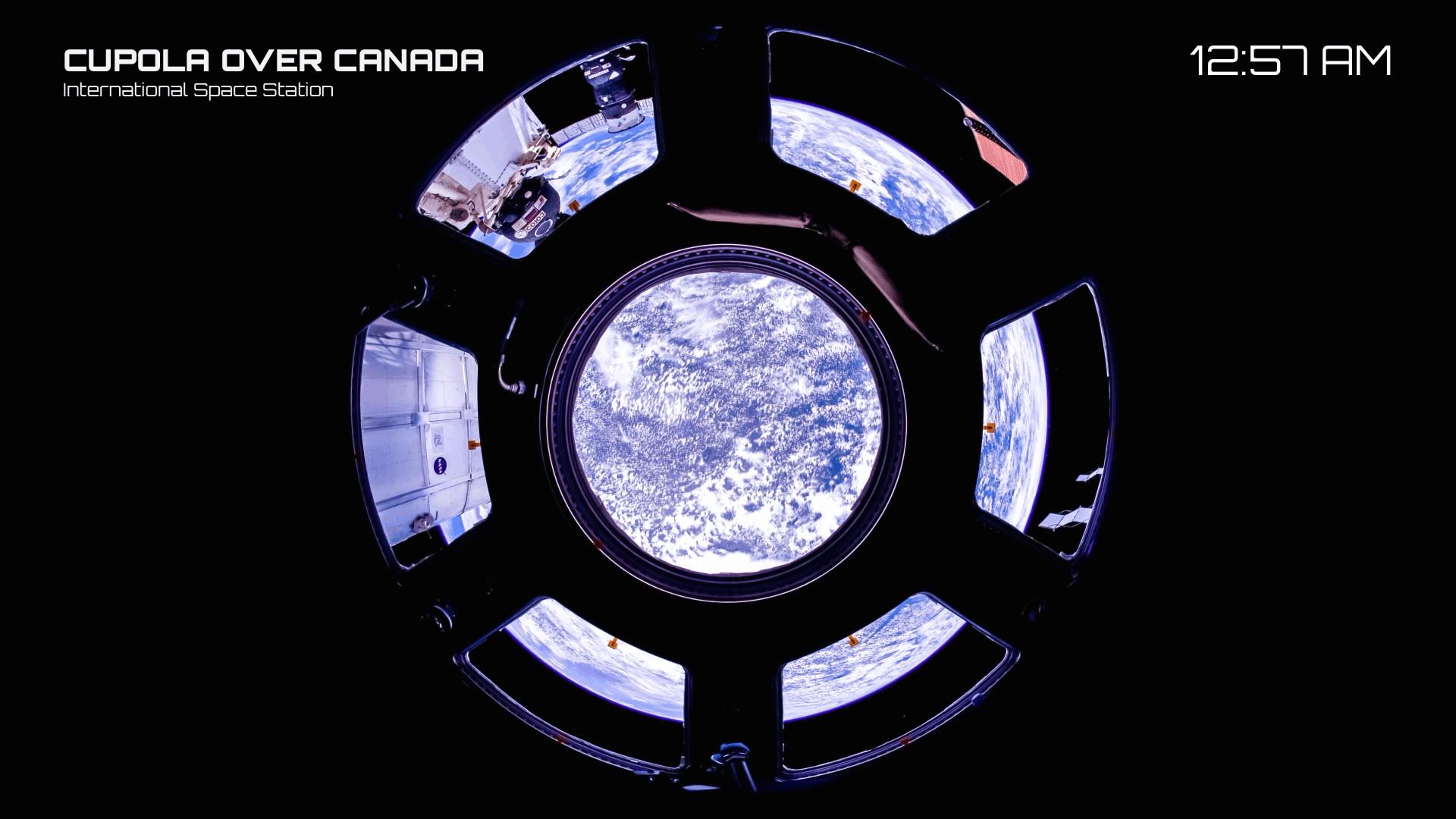 Canada through the ISS cupola window.