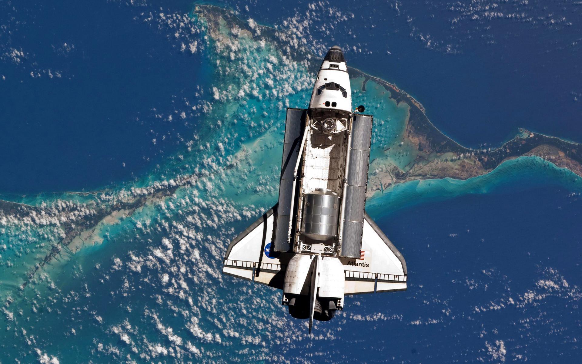 Atlantis Space Shuttle Orbit HD Wallpapers