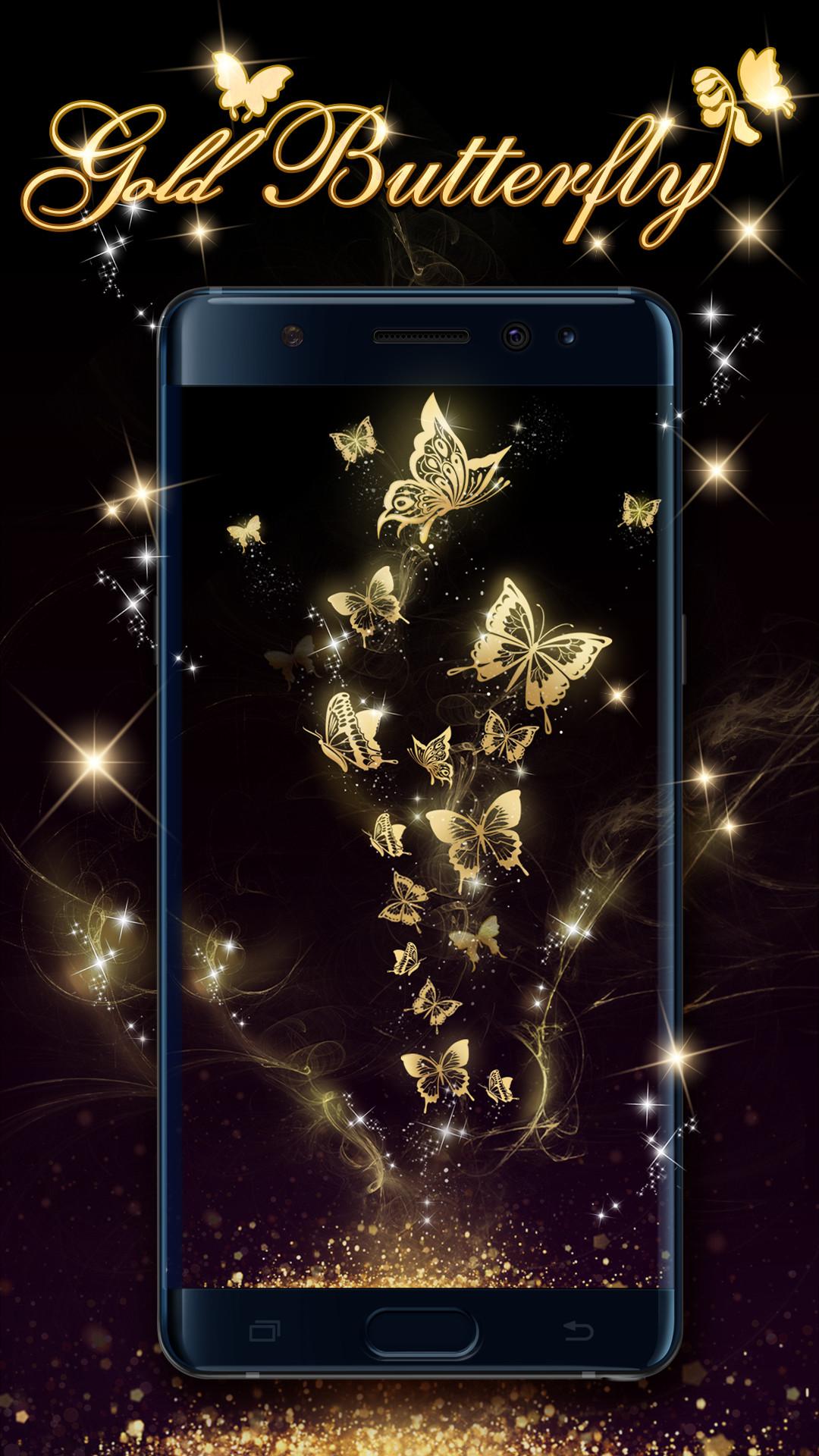 Gold butterfly live wallpaper!