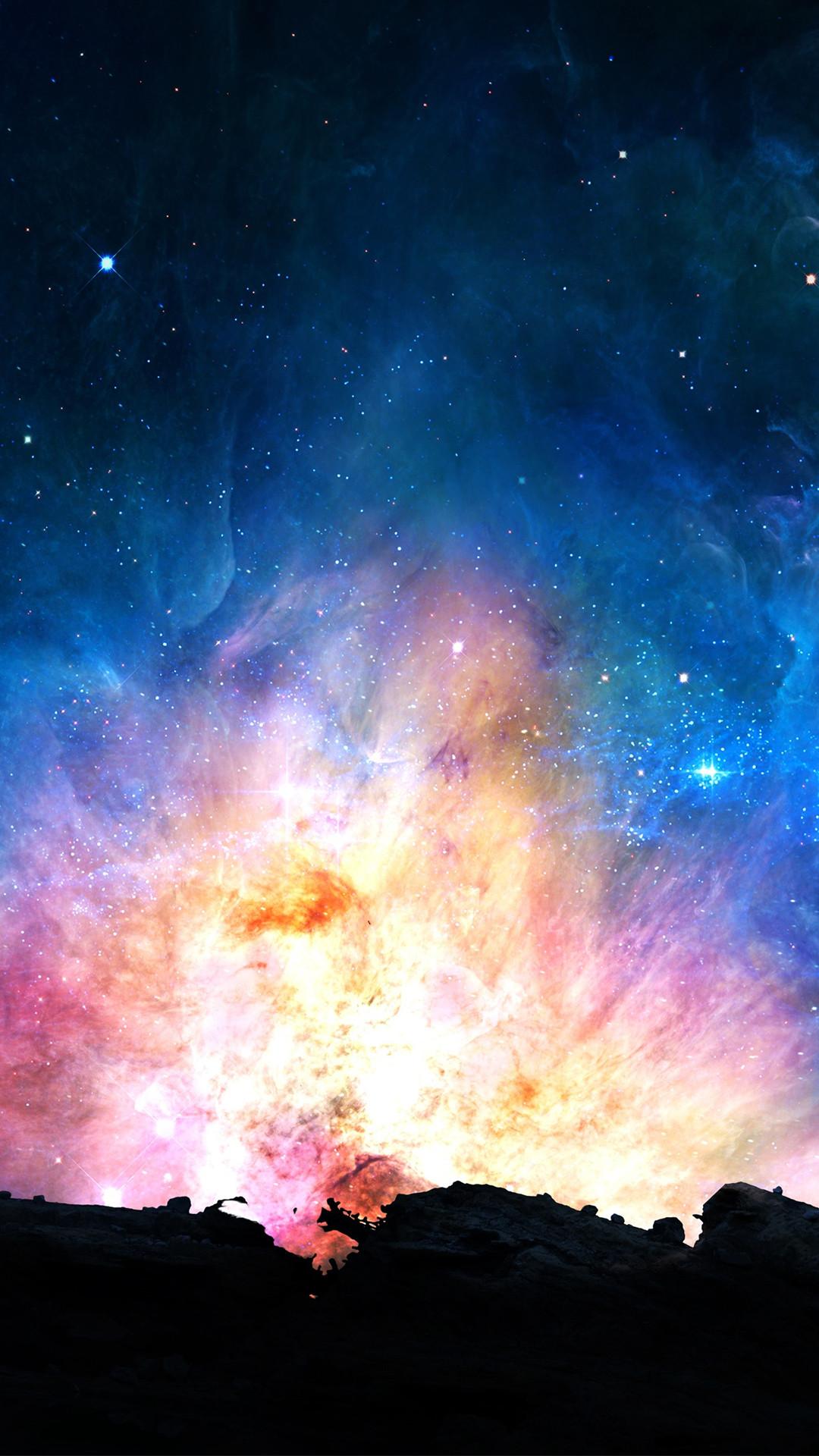 Galaxy Power iPhone 8 wallpaper