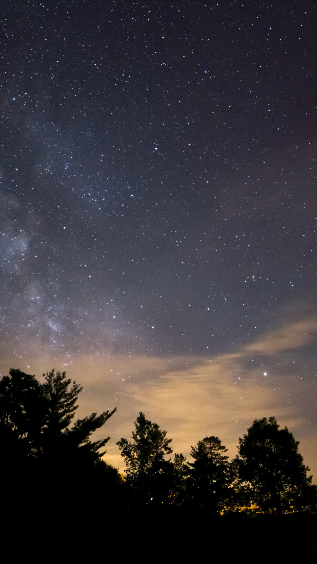 Sky Night Star Dark Mountain Cloud Shadow iPhone 6 wallpaper