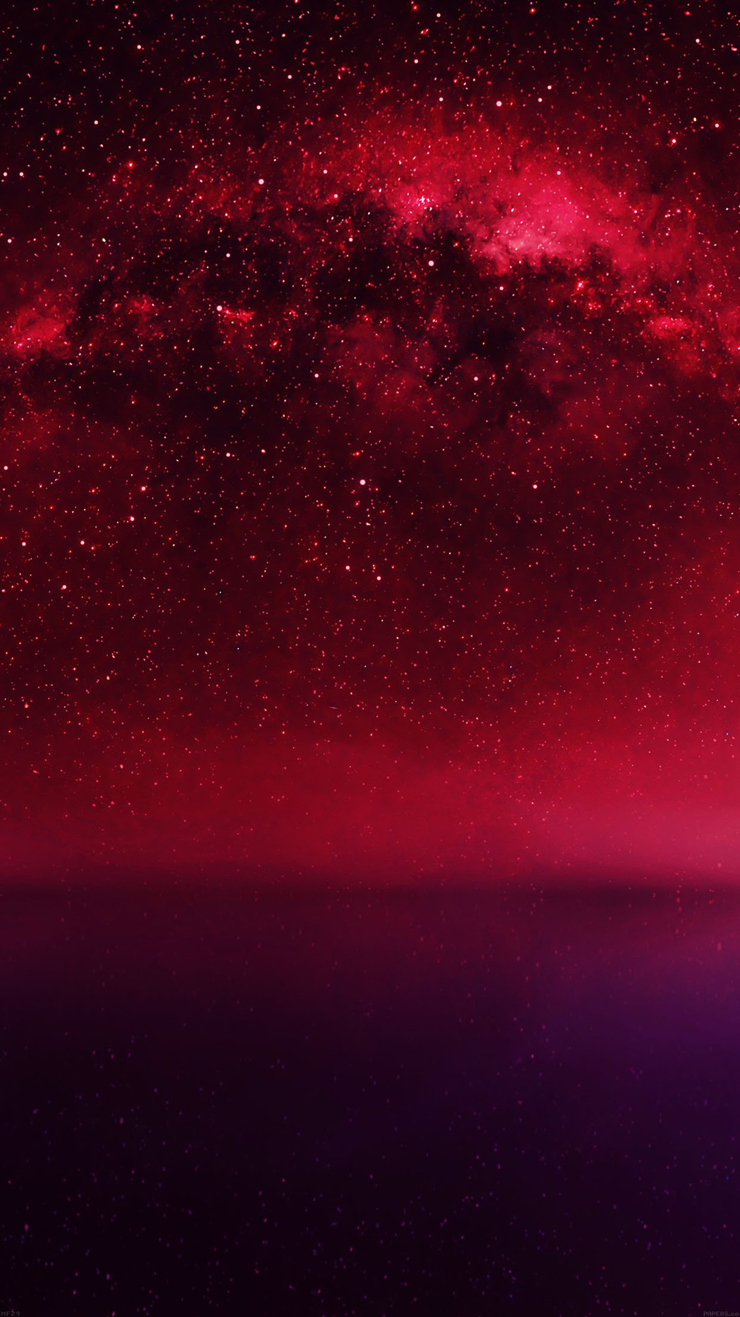 Cosmos Red Night Live Lake Space Starry iPhone 6 wallpaper