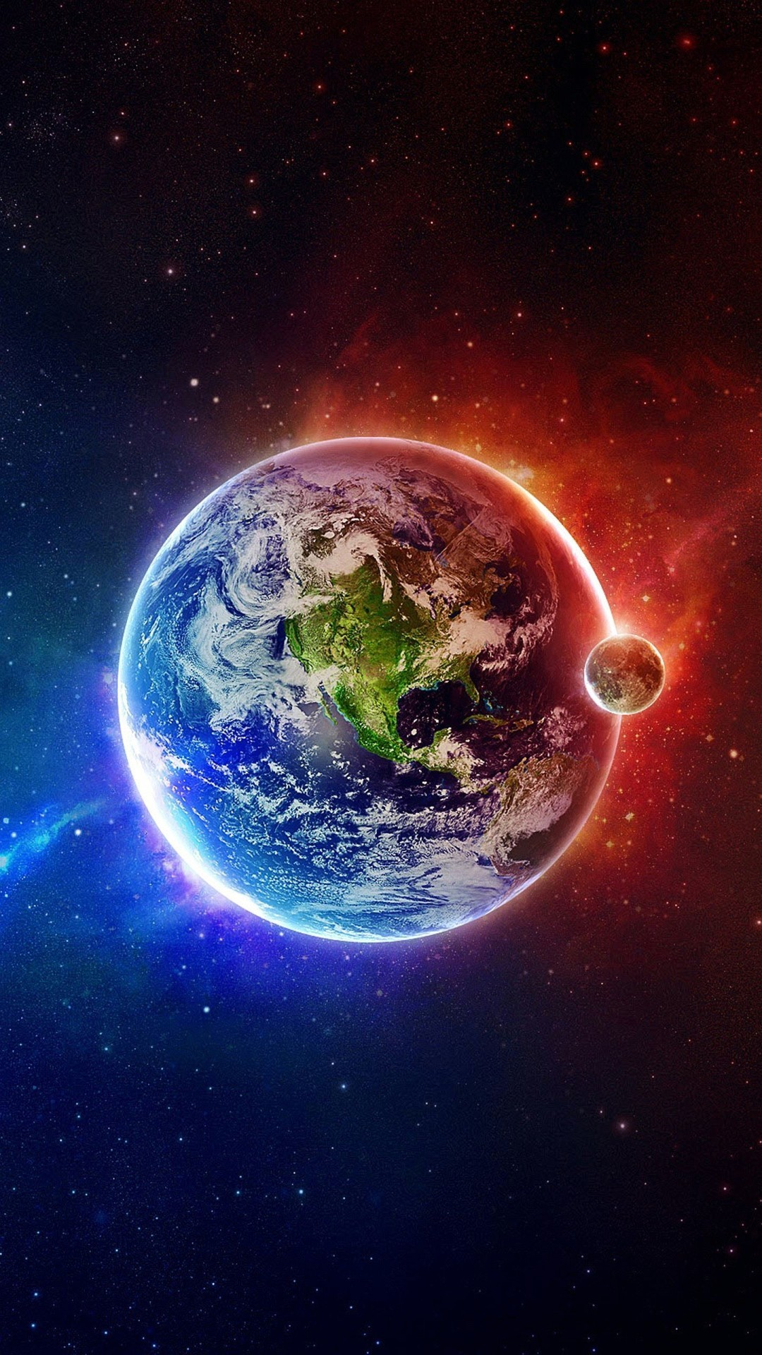 Wallpaper iphone 6 plus red blue earth 5 5 inches