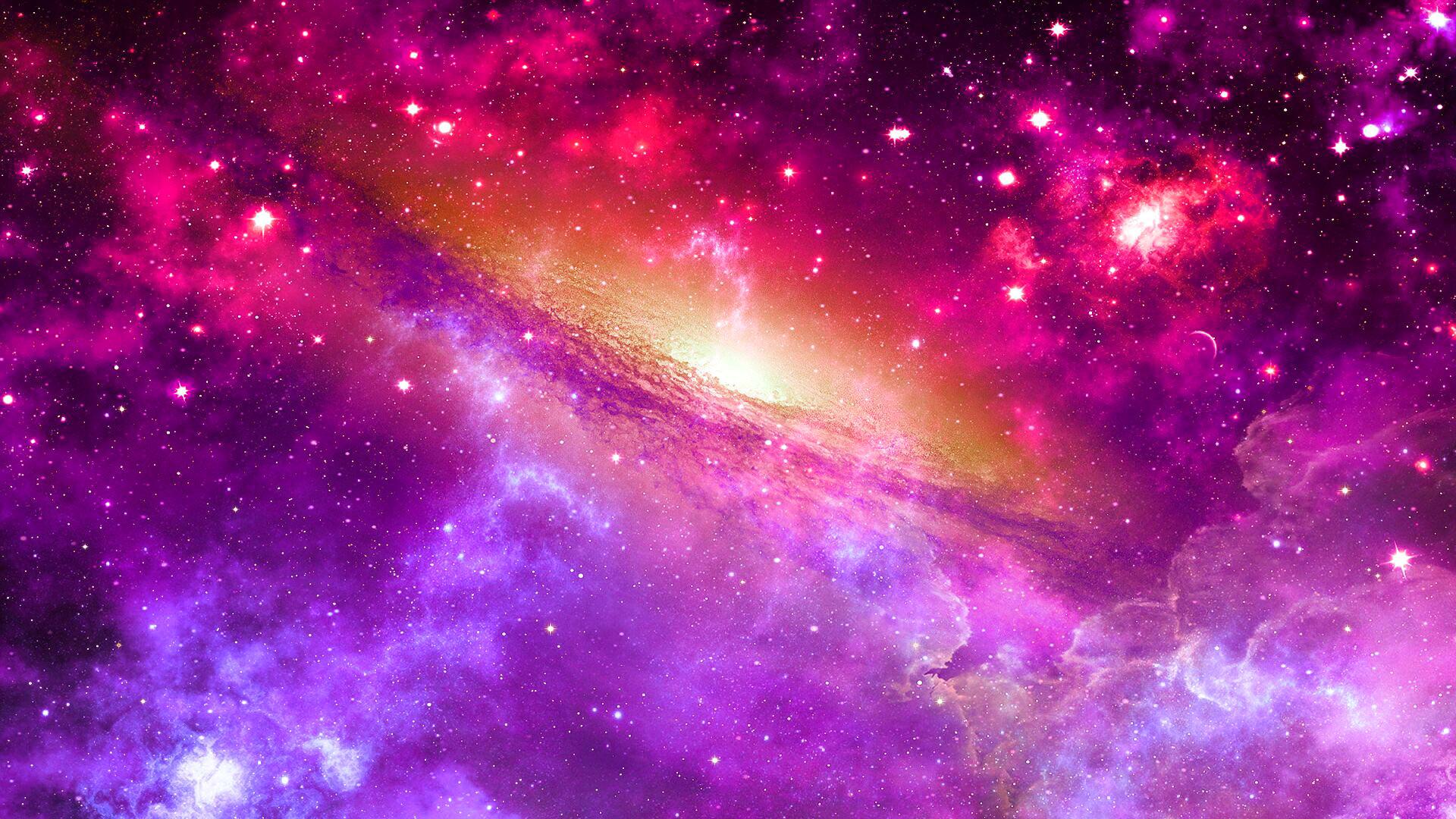 Wallpaper space, universe, nebula, star, light