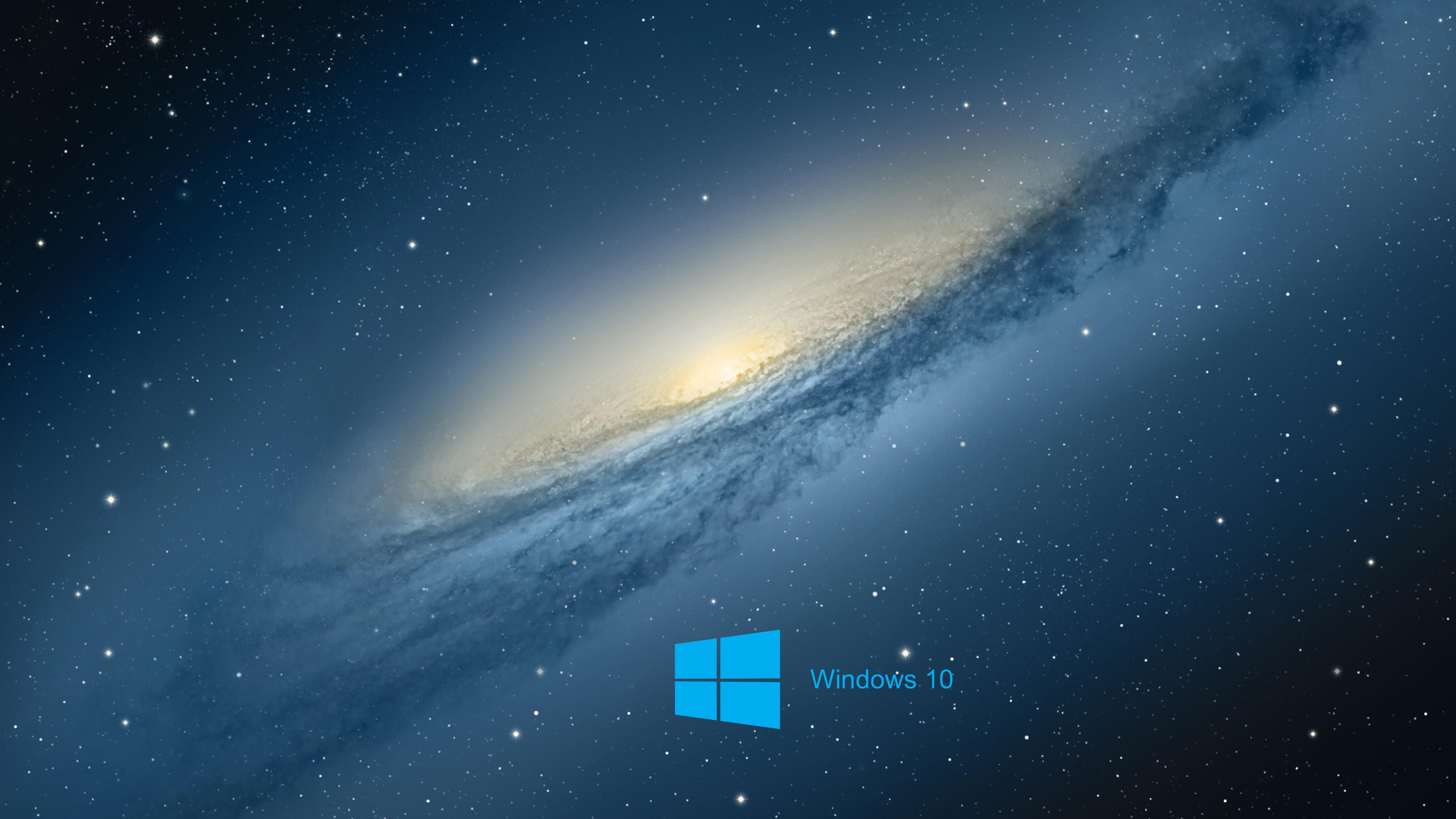 Windows 10 Desktop Background with scientific space planet galaxy .