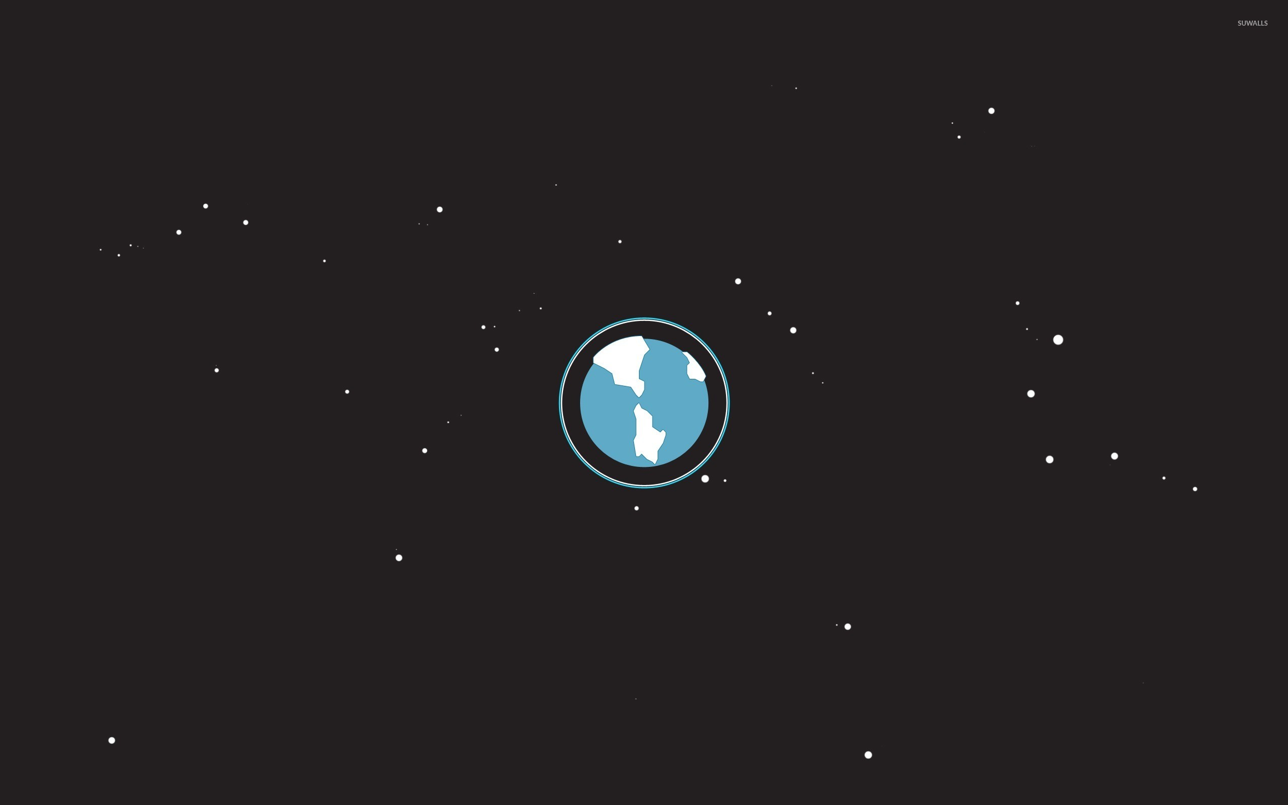 Earth from space wallpaper