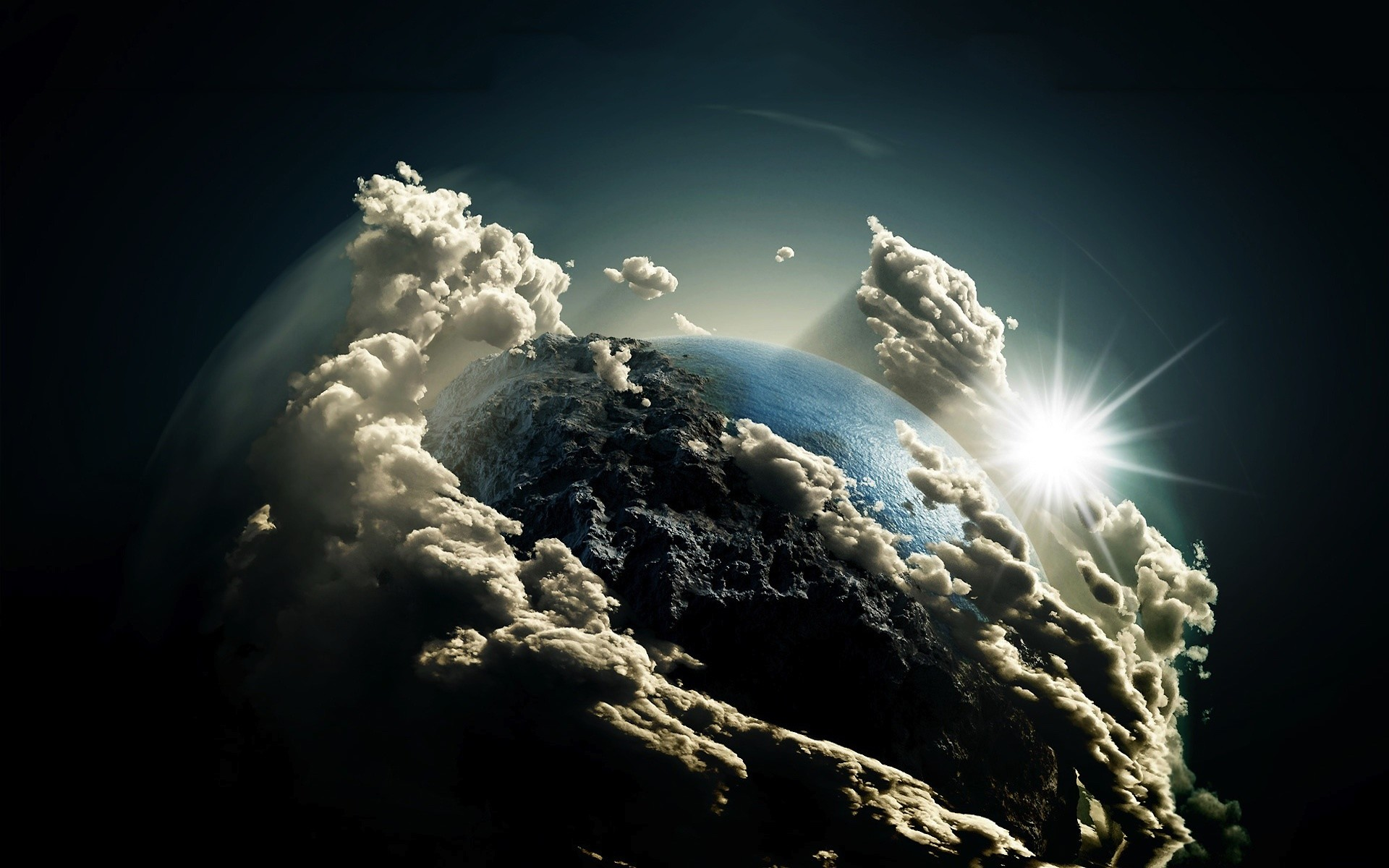 Nature – Clouds Covering Earth From Space Wallpaper