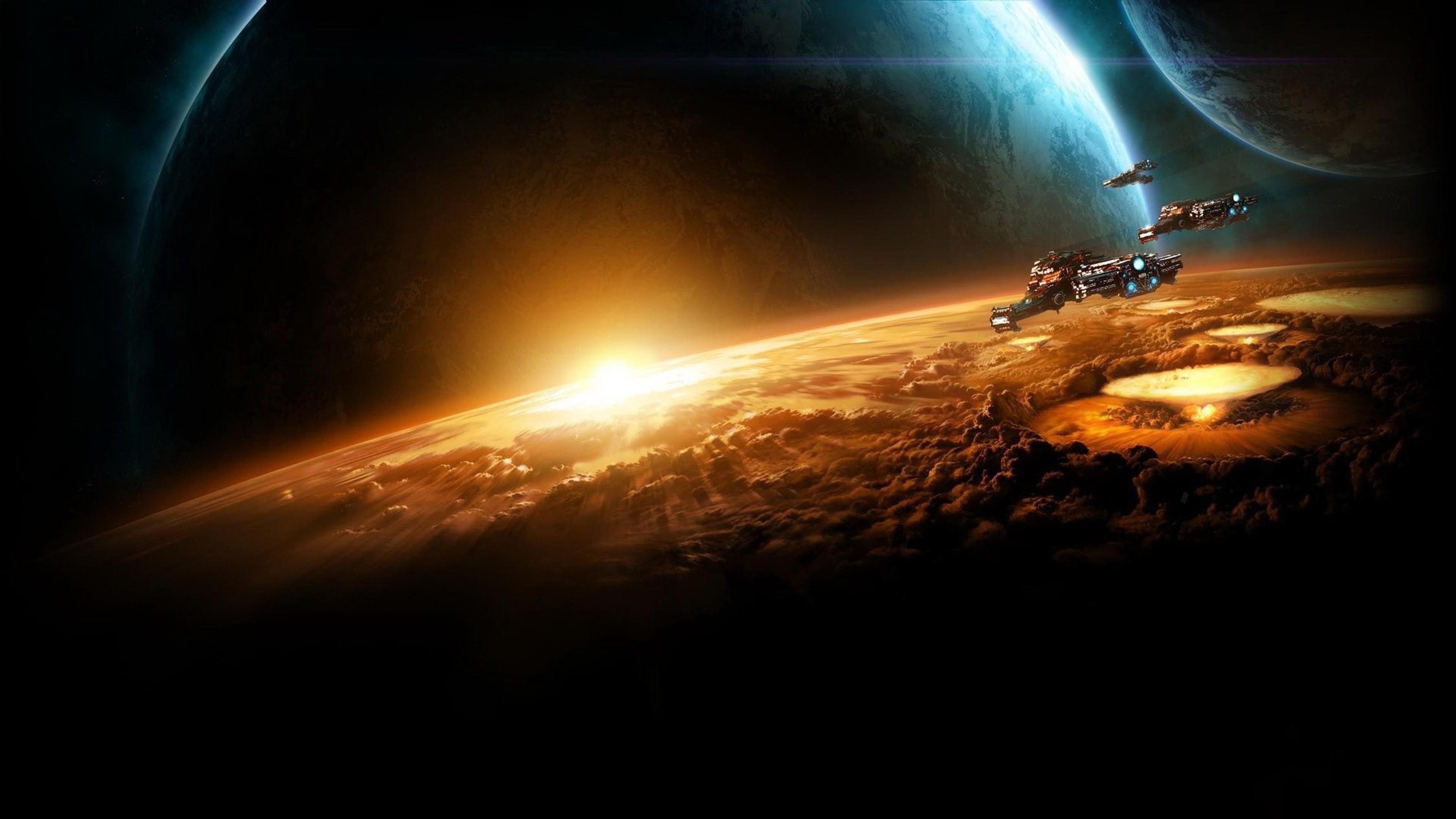 Earth · Starcraft planet Sun Earth Space wallpaper