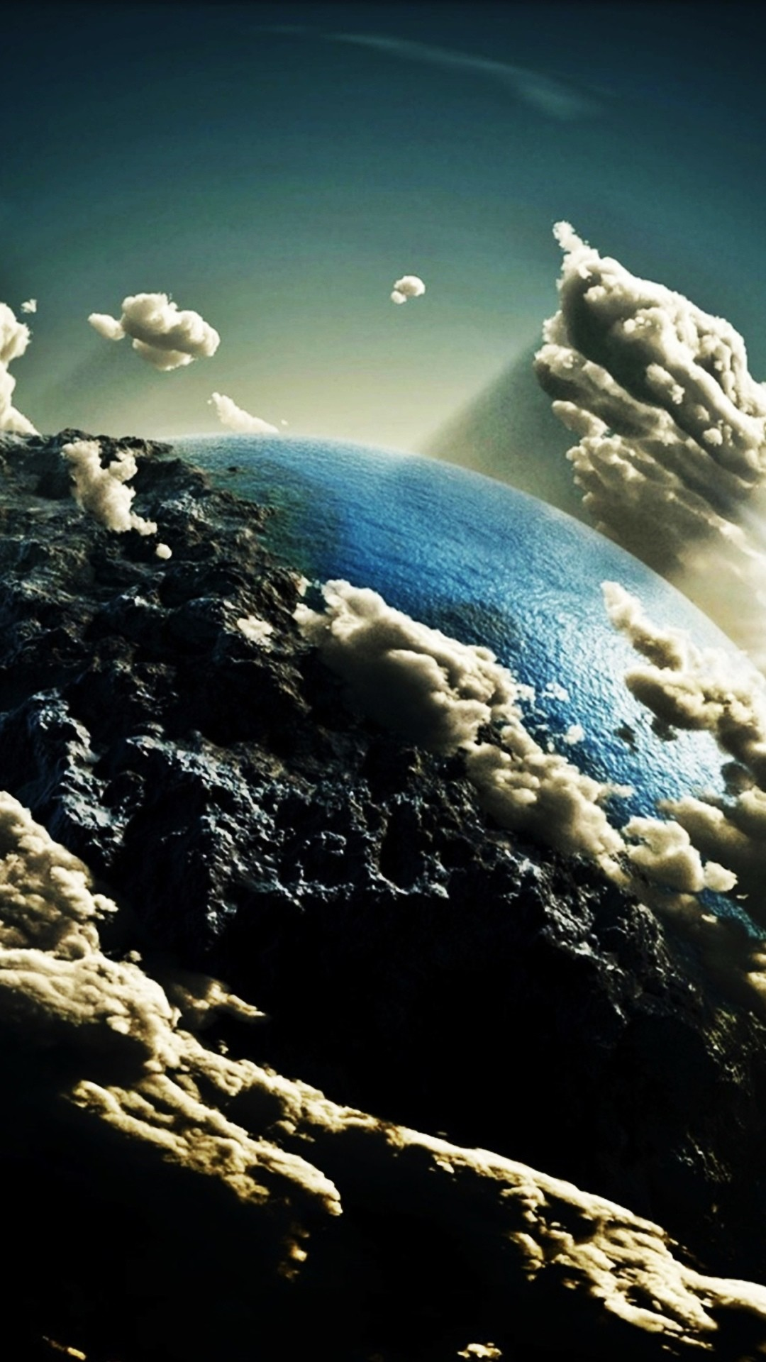 Earth Space Clouds Android Wallpaper …