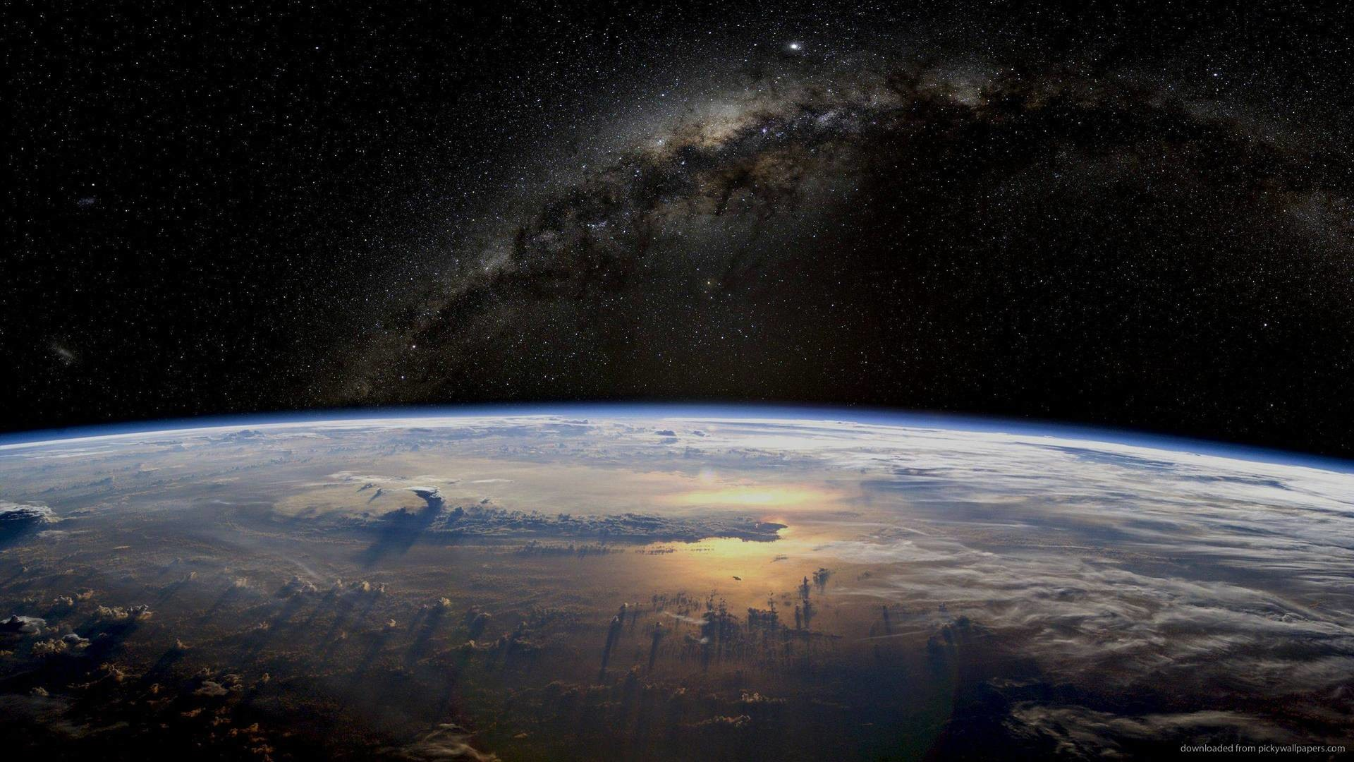Milky Way Above The Earth picture
