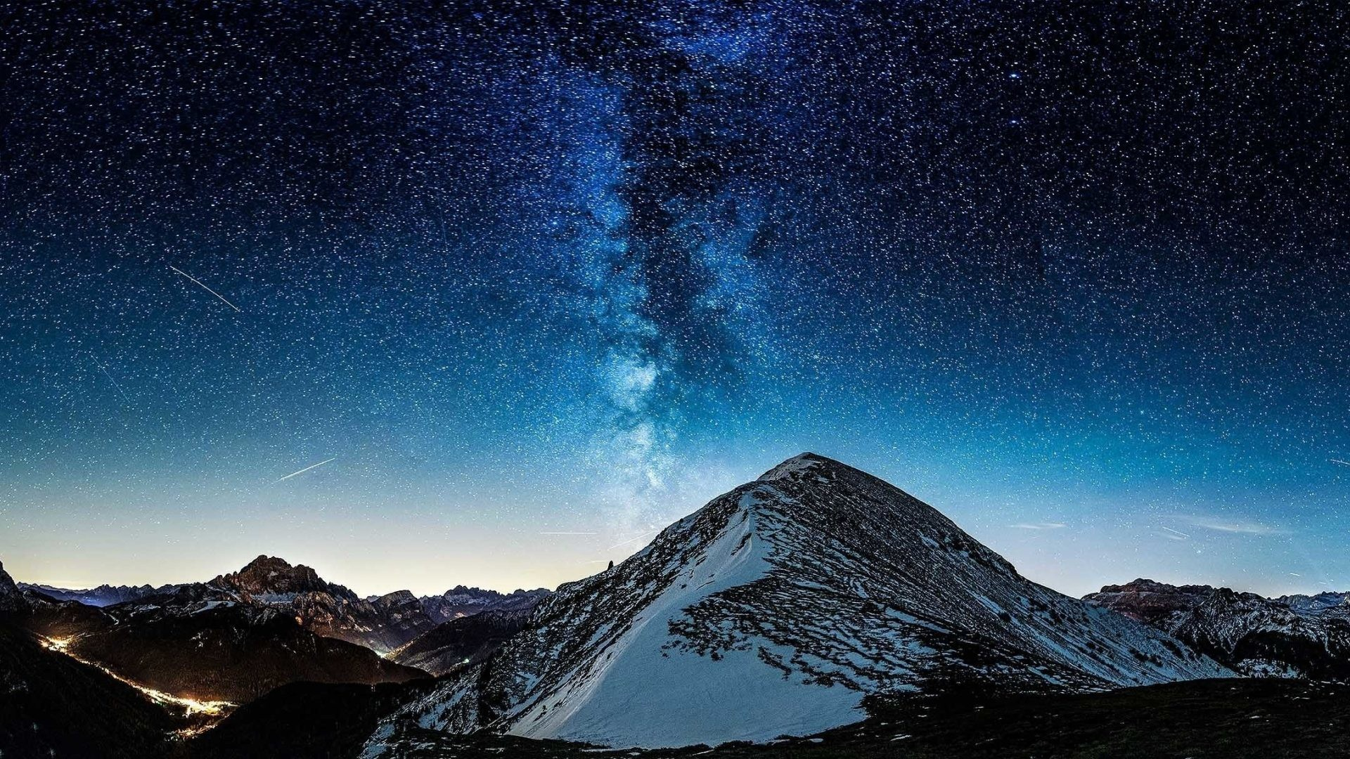Way Tag – Milky Way Mountains Stars Nature Wallpapers Images for HD 16:9  High