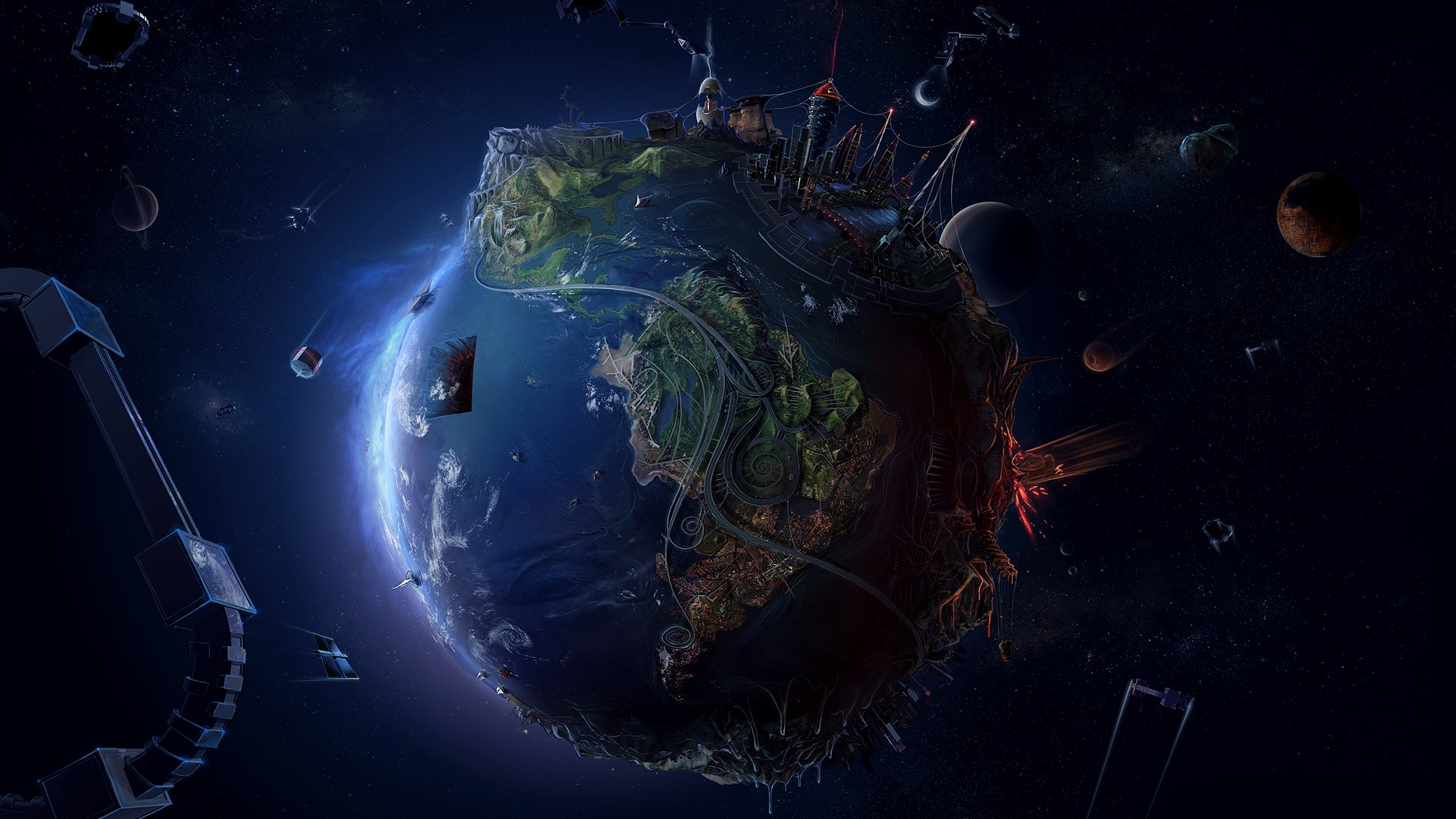 Cool Pictures Earth Space HD Wallpaper of Galaxy – hdwallpaper2013.com