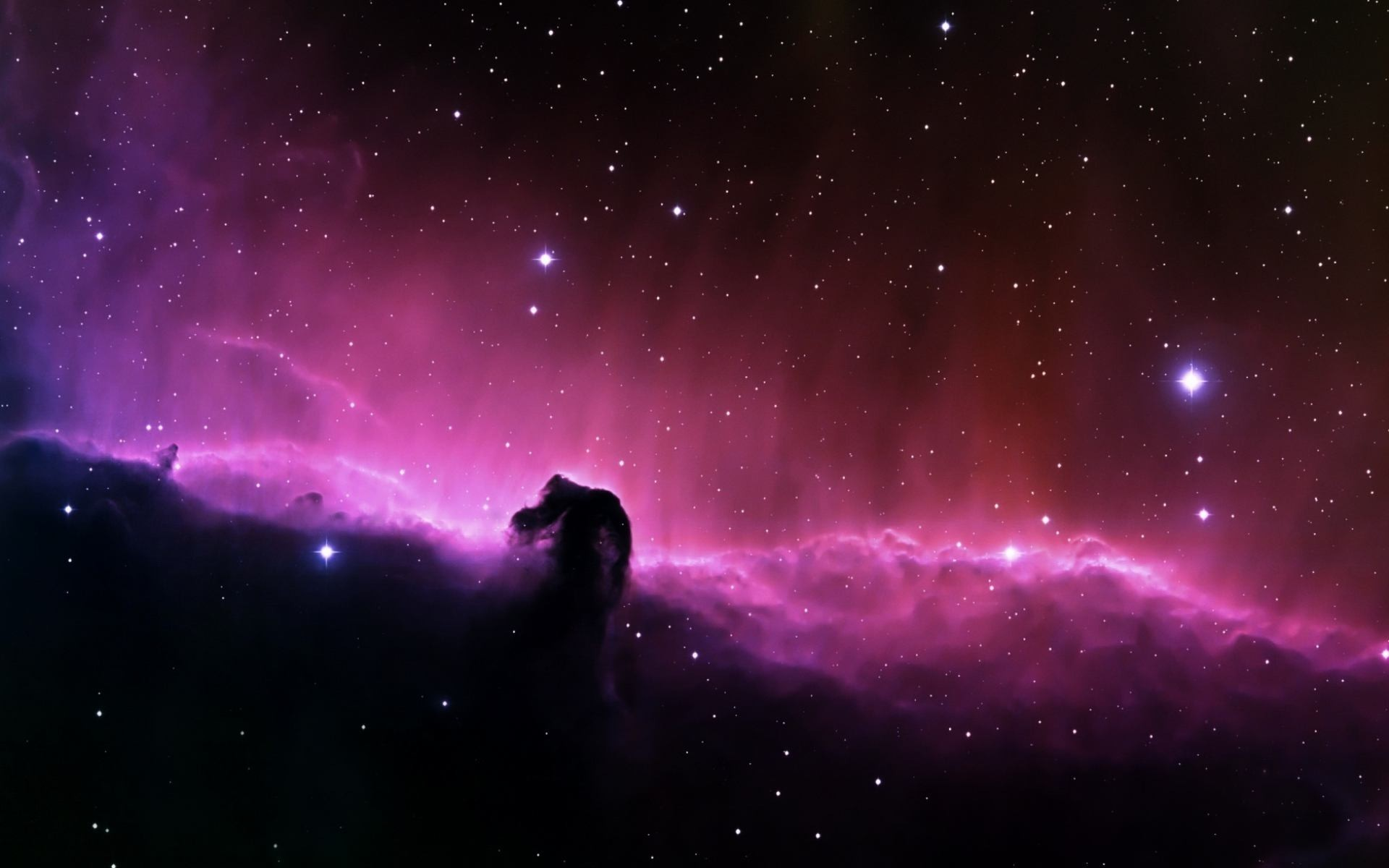 Preview violet and dark clouds in deep space