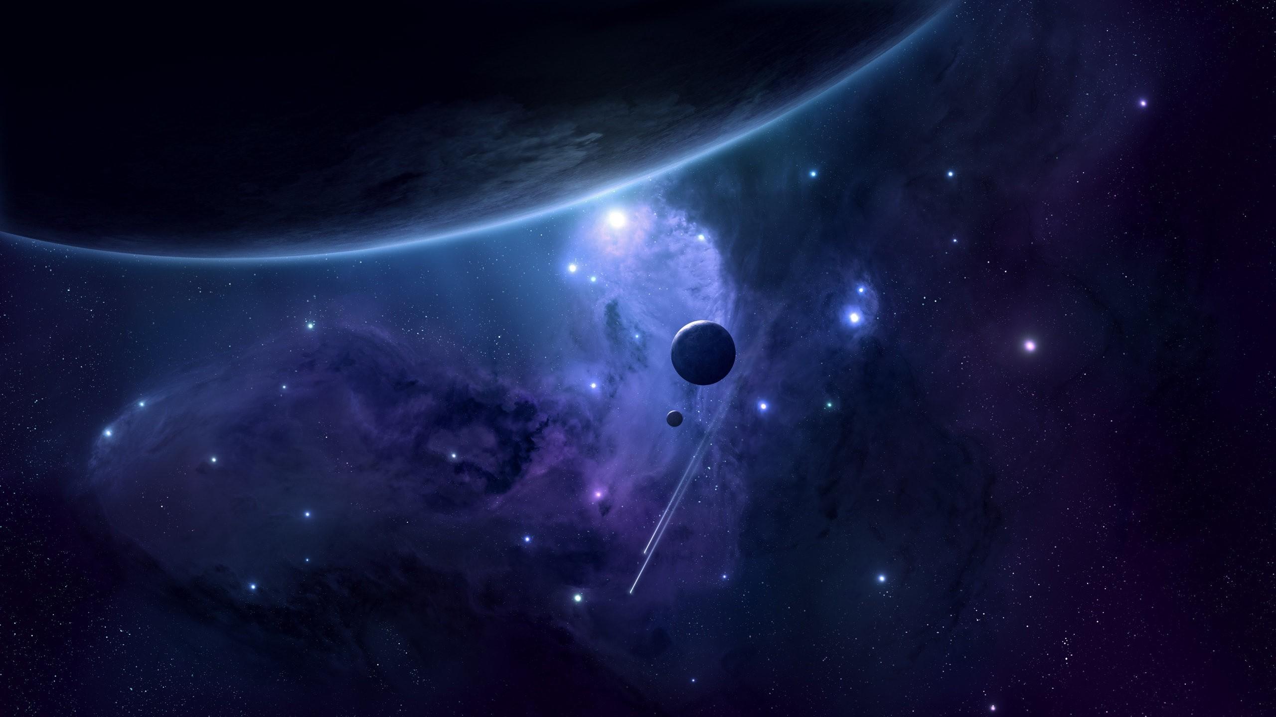 Wallpaper space, planets, satellites, stars, deep