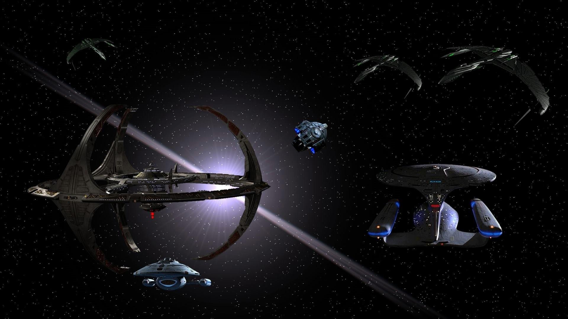 DEEP SPACE NINE Star Trek futuristic television sci-fi spaceship (7 .
