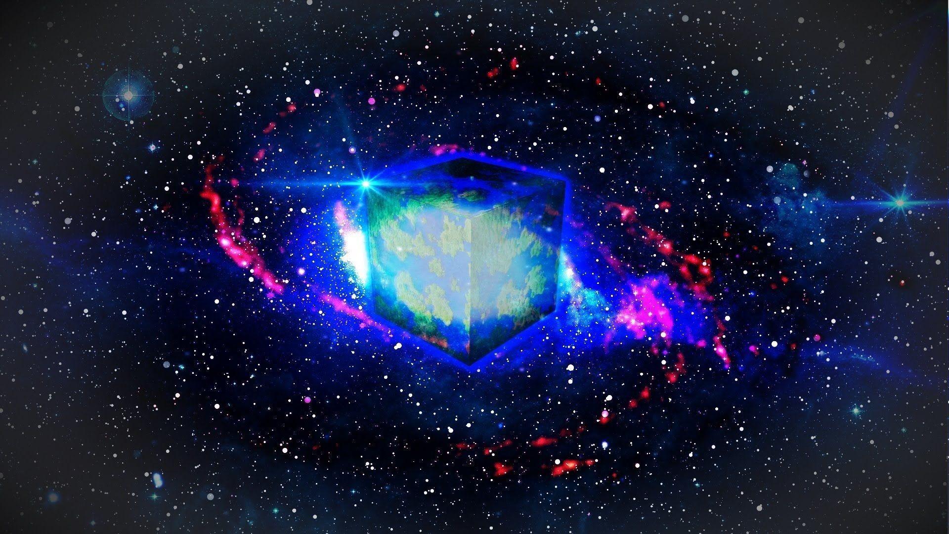 SPEED-ART] Minecraft Space Desktop Background
