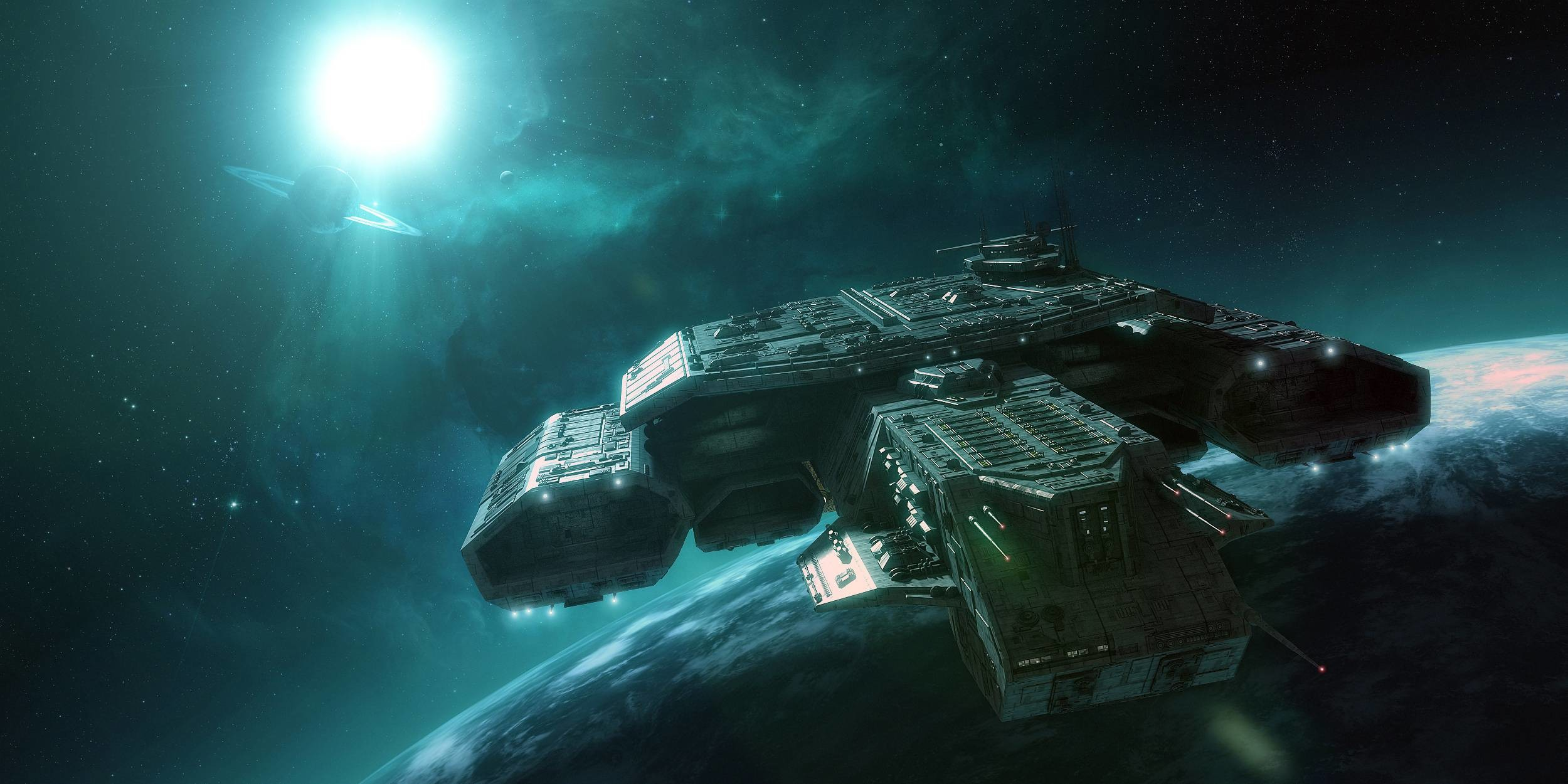 Preview daedalus attack stargate orbit planet amazing background