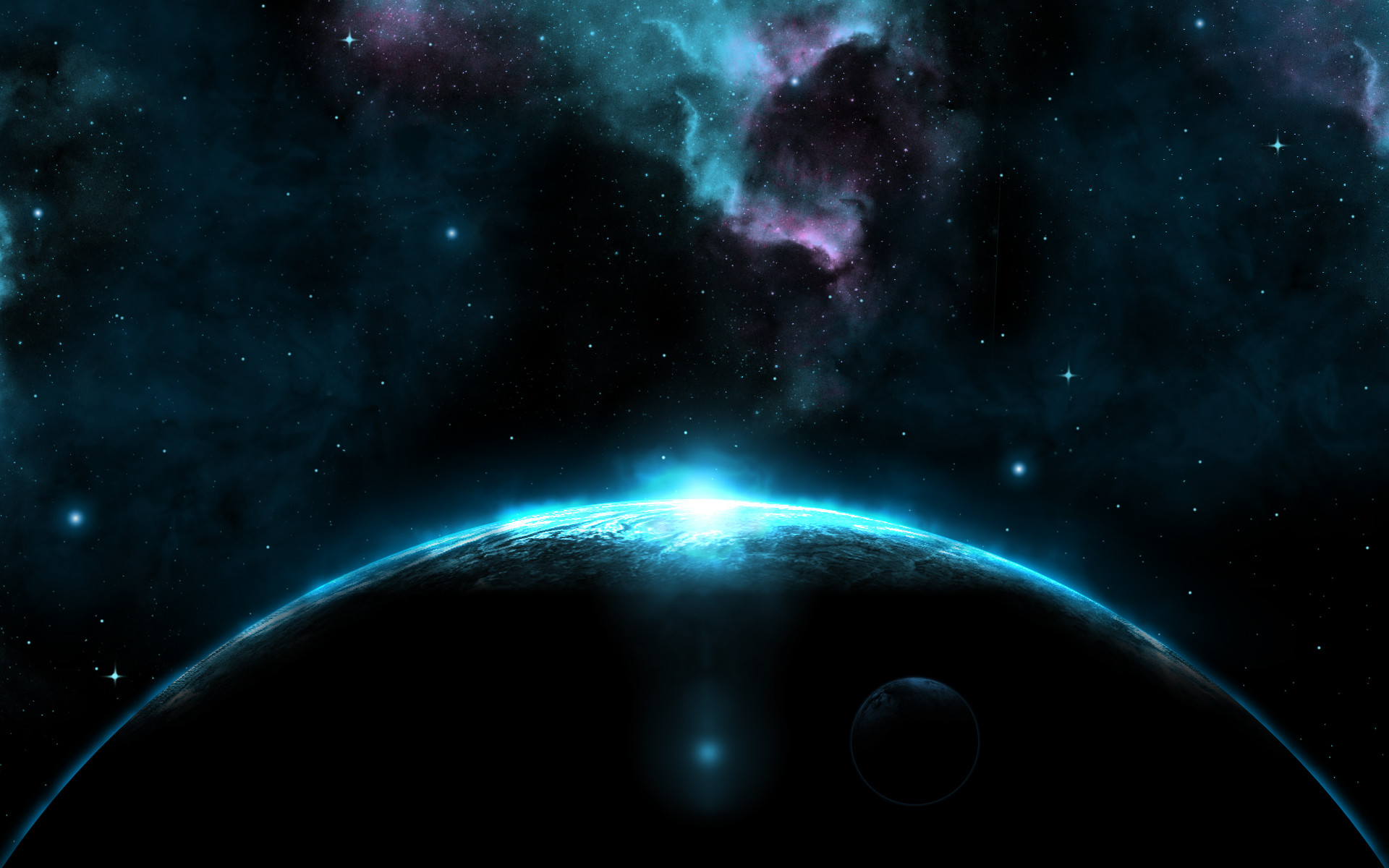 Giant Dark Blue Planet HD Wallpapers