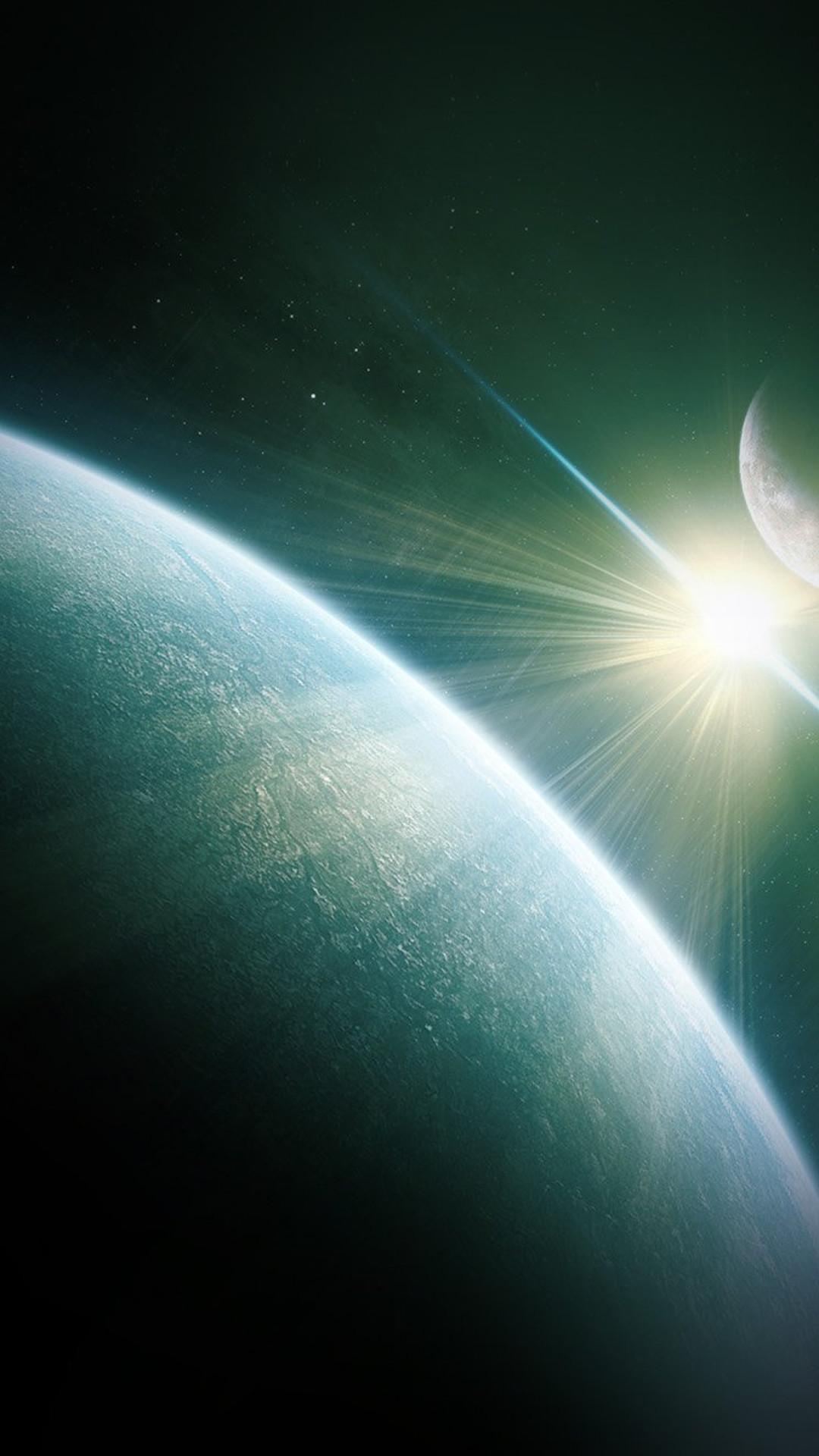 Dark Space World Earth Star #iPhone #6 #plus #wallpaper