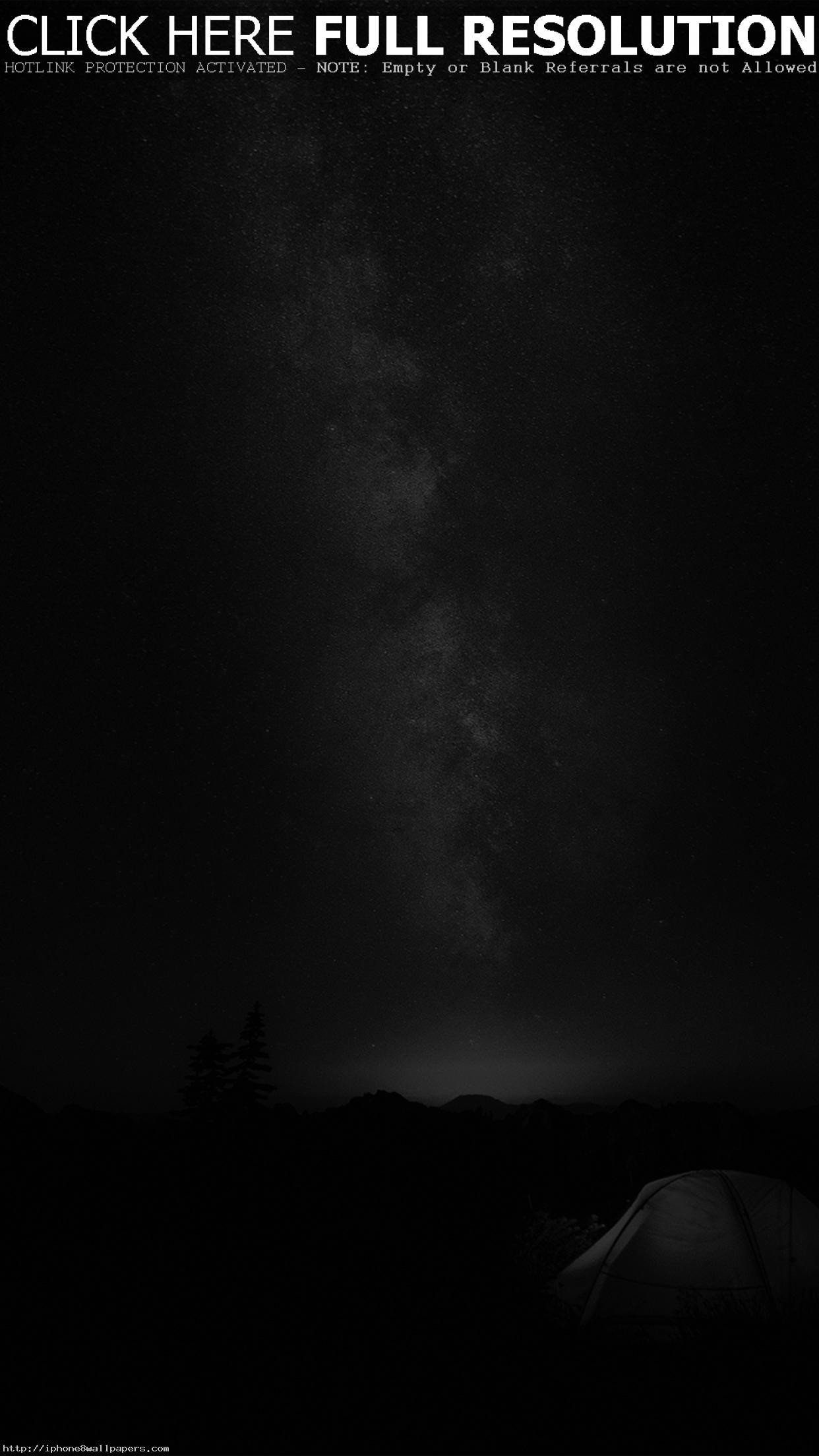Camping Night Star Galaxy Milky Sky Dark Space Bw Dark Android wallpaper –  Android HD wallpapers