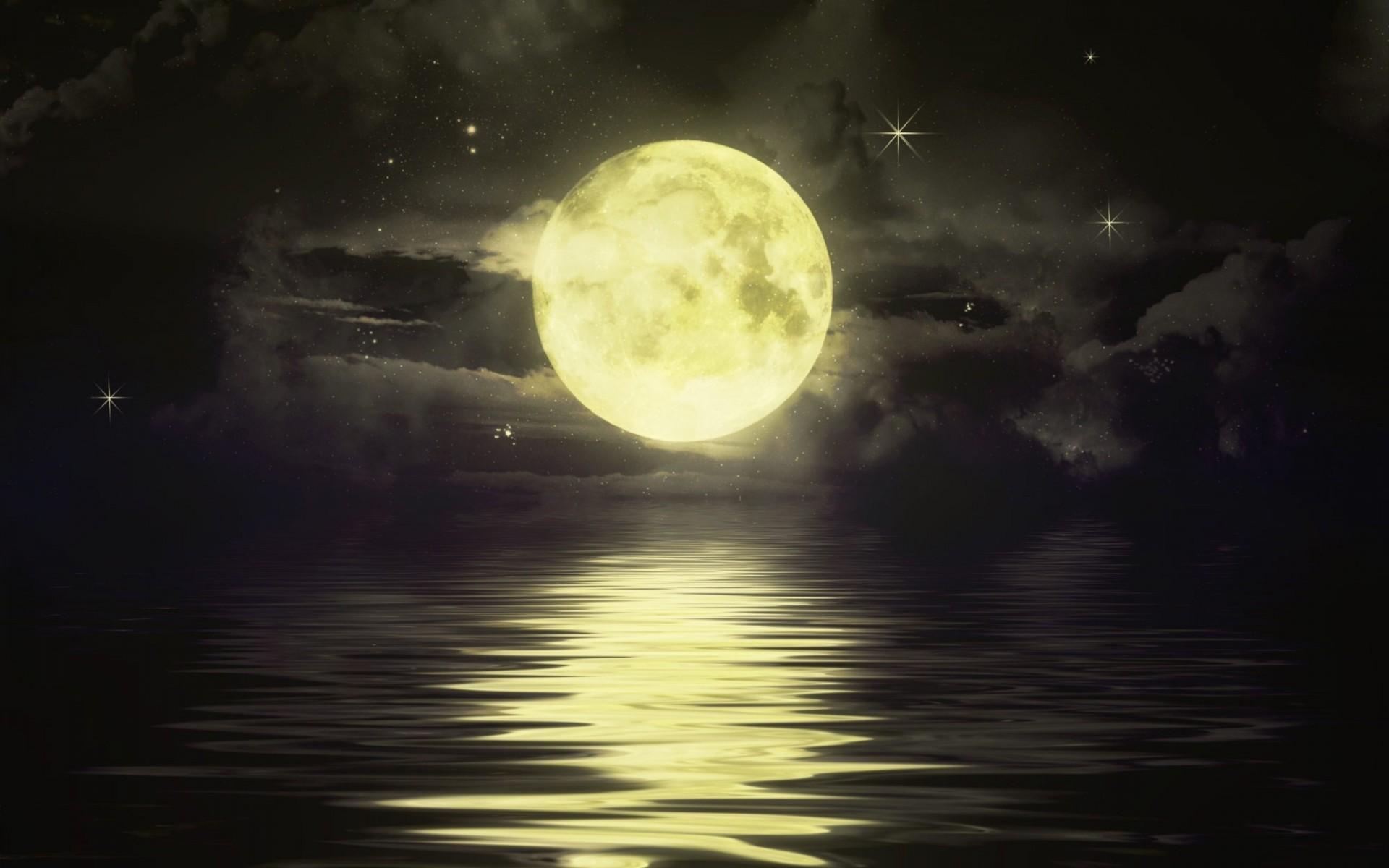 Tags: Full moon, Stars …