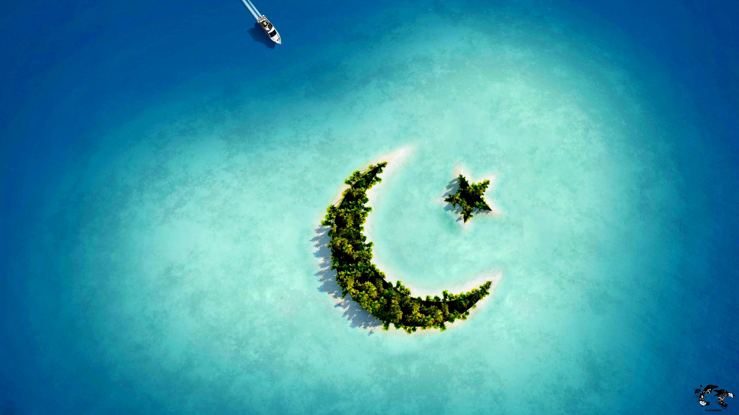 Crescent Moon Star Island