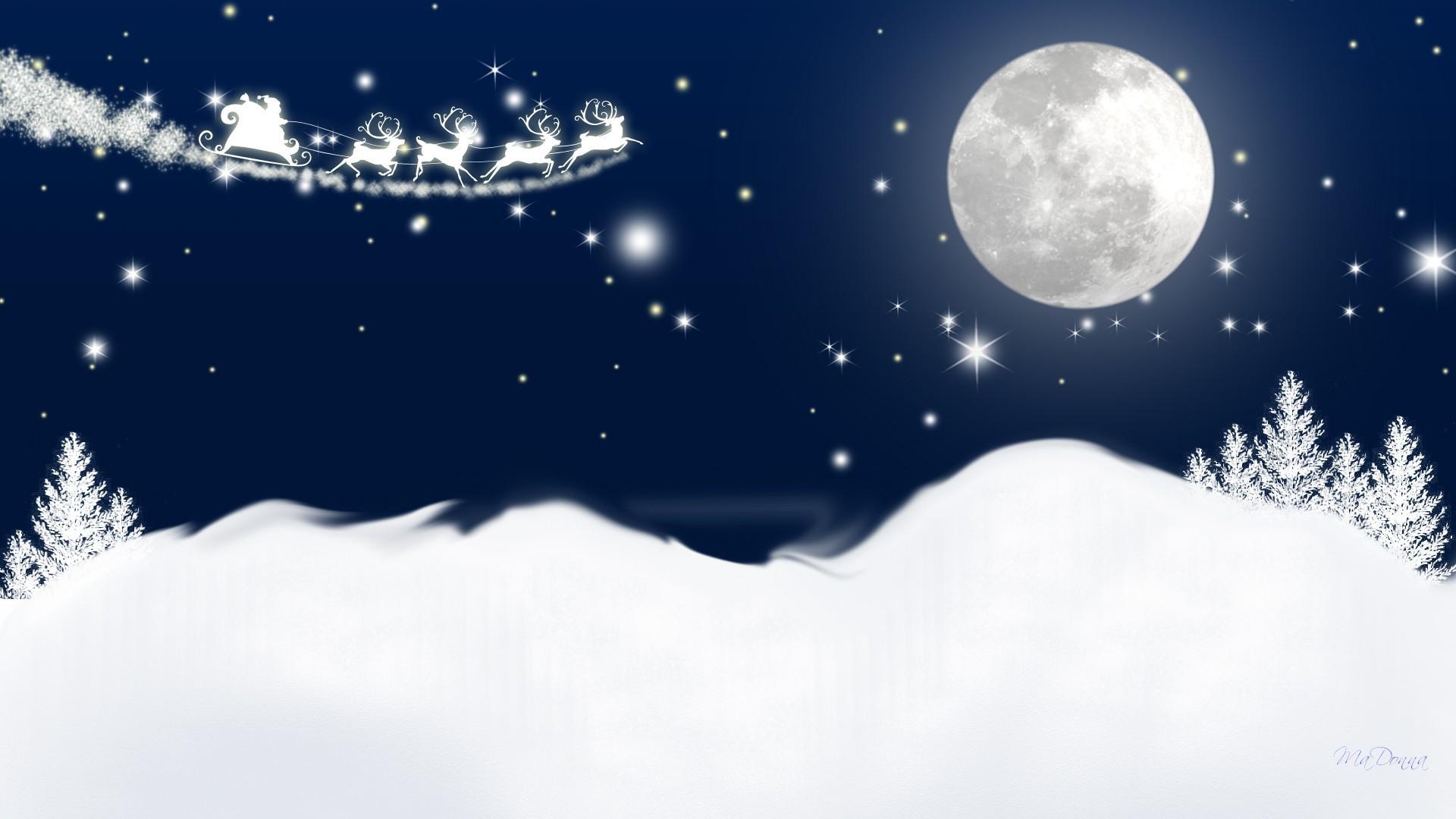 Stars Tag – Sky Sleigh Starlight Flight Feliz Moon Santa Reindeer Trees  Winter Firefox Eve Moonlight