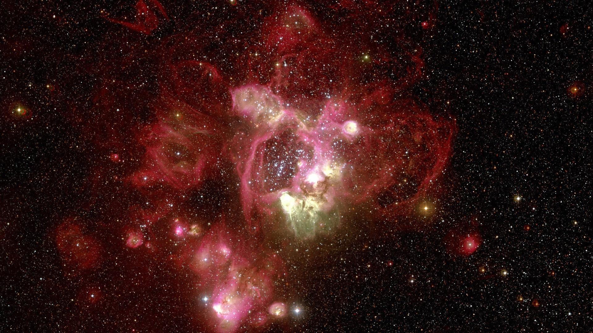 nebula, red, hubble