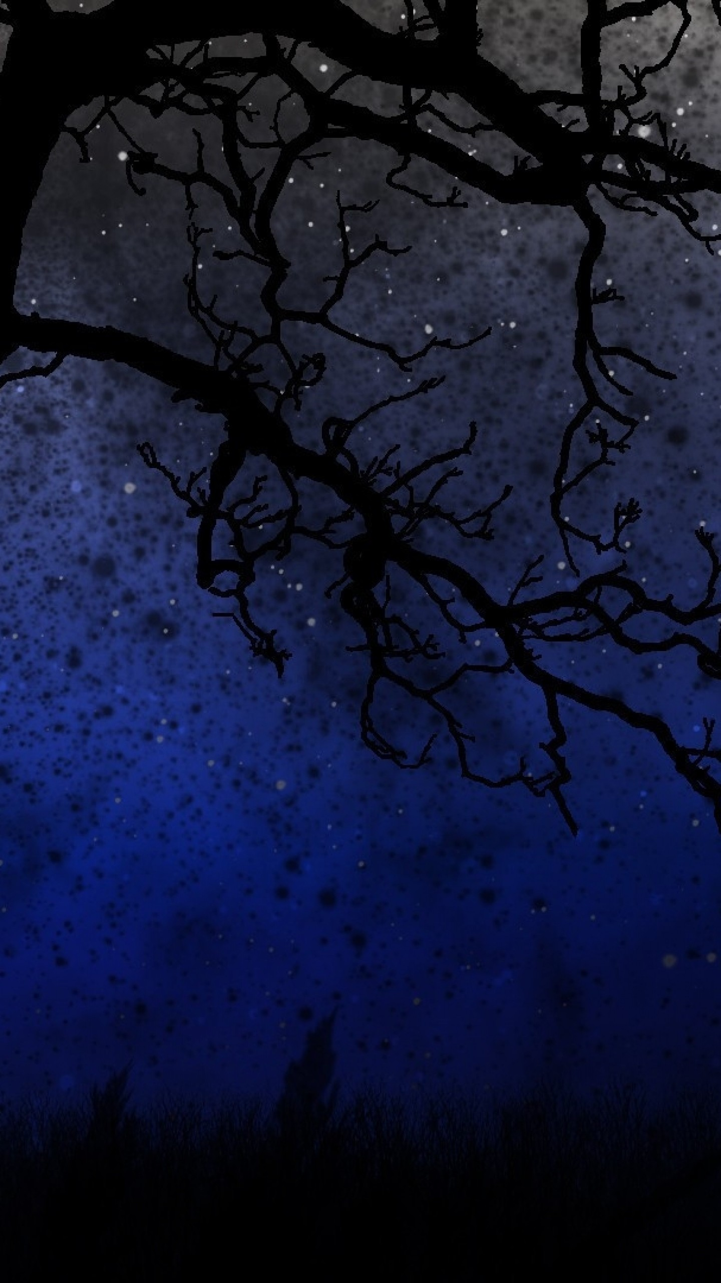 Preview wallpaper sky, trees, night 1440×2560