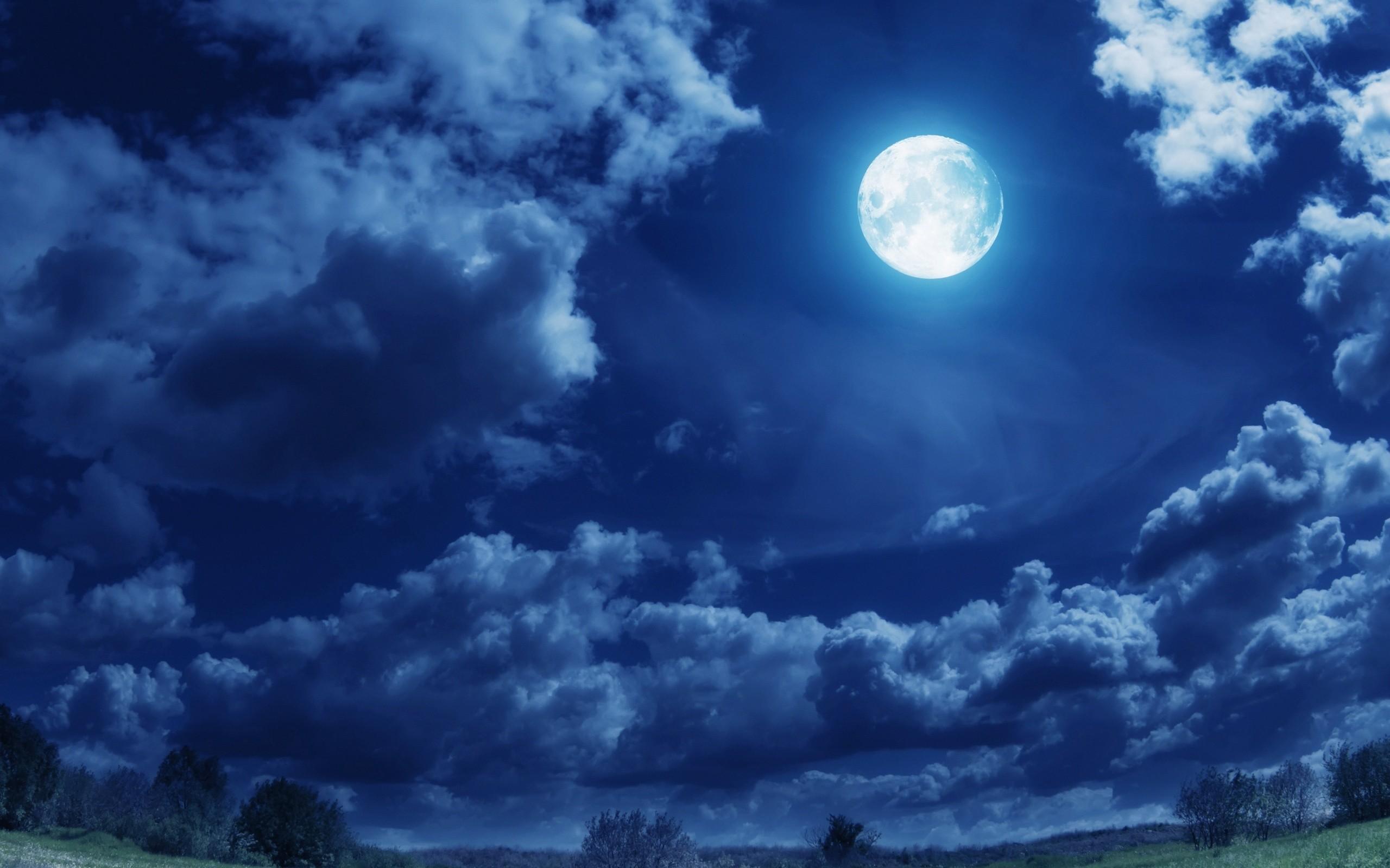 Wallpaper night, sky, full moon, clouds, moon desktop wallpaper .