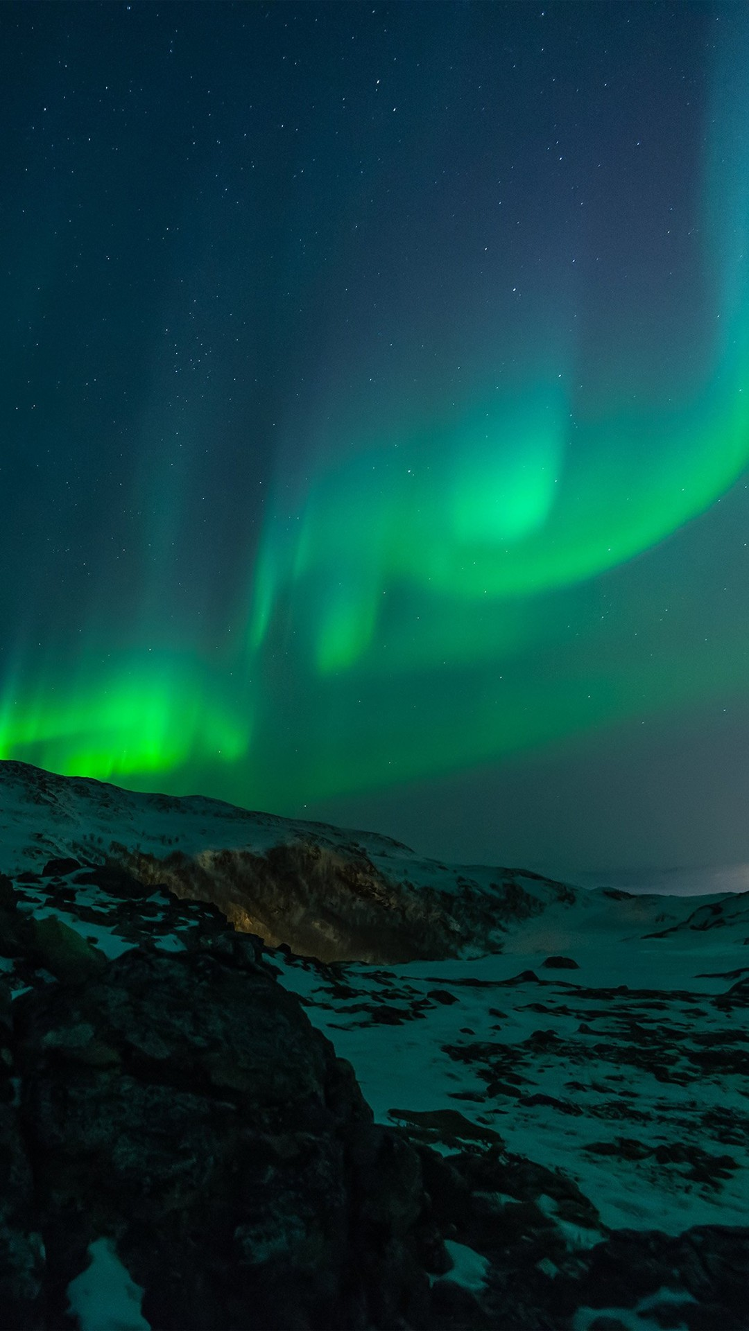 Aurora Nature Night Sky #iPhone #7 #wallpaper