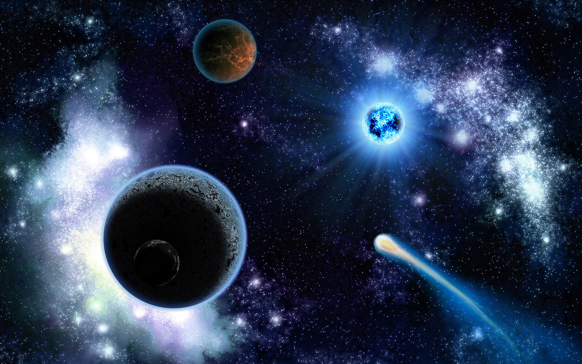 Space Planets And Comets – Wallpaper #9985